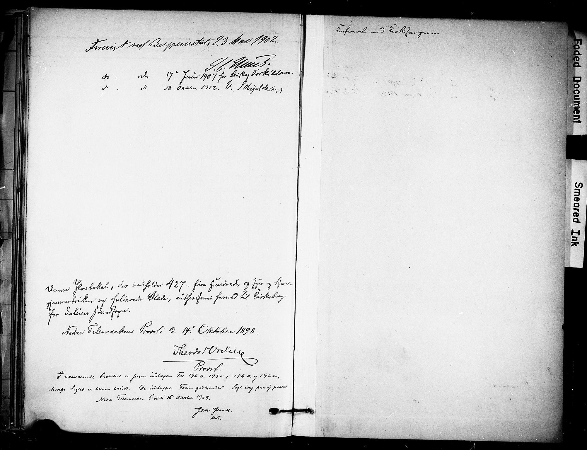 SAKO, Solum kirkebøker, F/Fa/L0011: Ministerialbok nr. I 11, 1898-1909