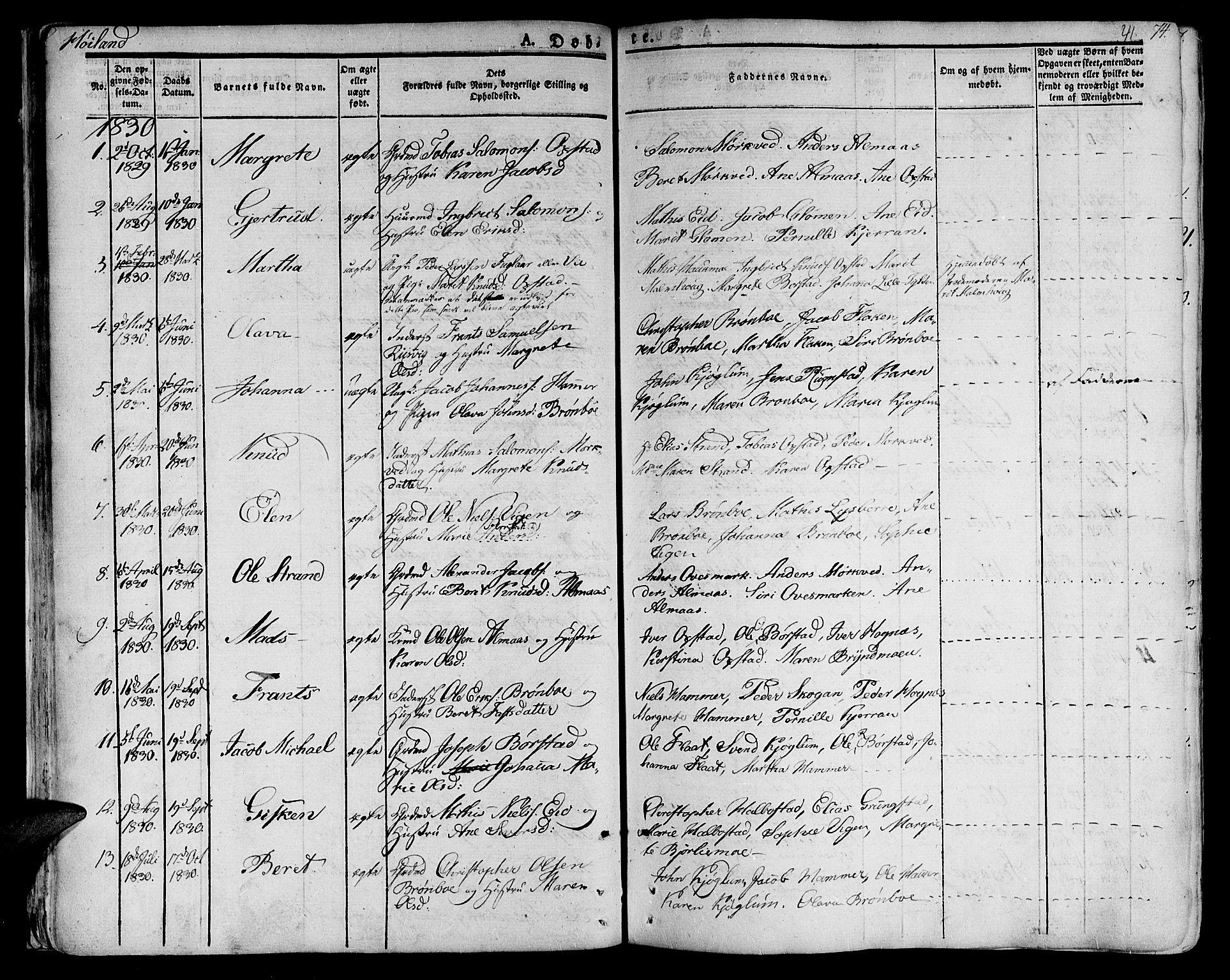 SAT, Ministerialprotokoller, klokkerbøker og fødselsregistre - Nord-Trøndelag, 758/L0510: Ministerialbok nr. 758A01 /2, 1821-1841, s. 41