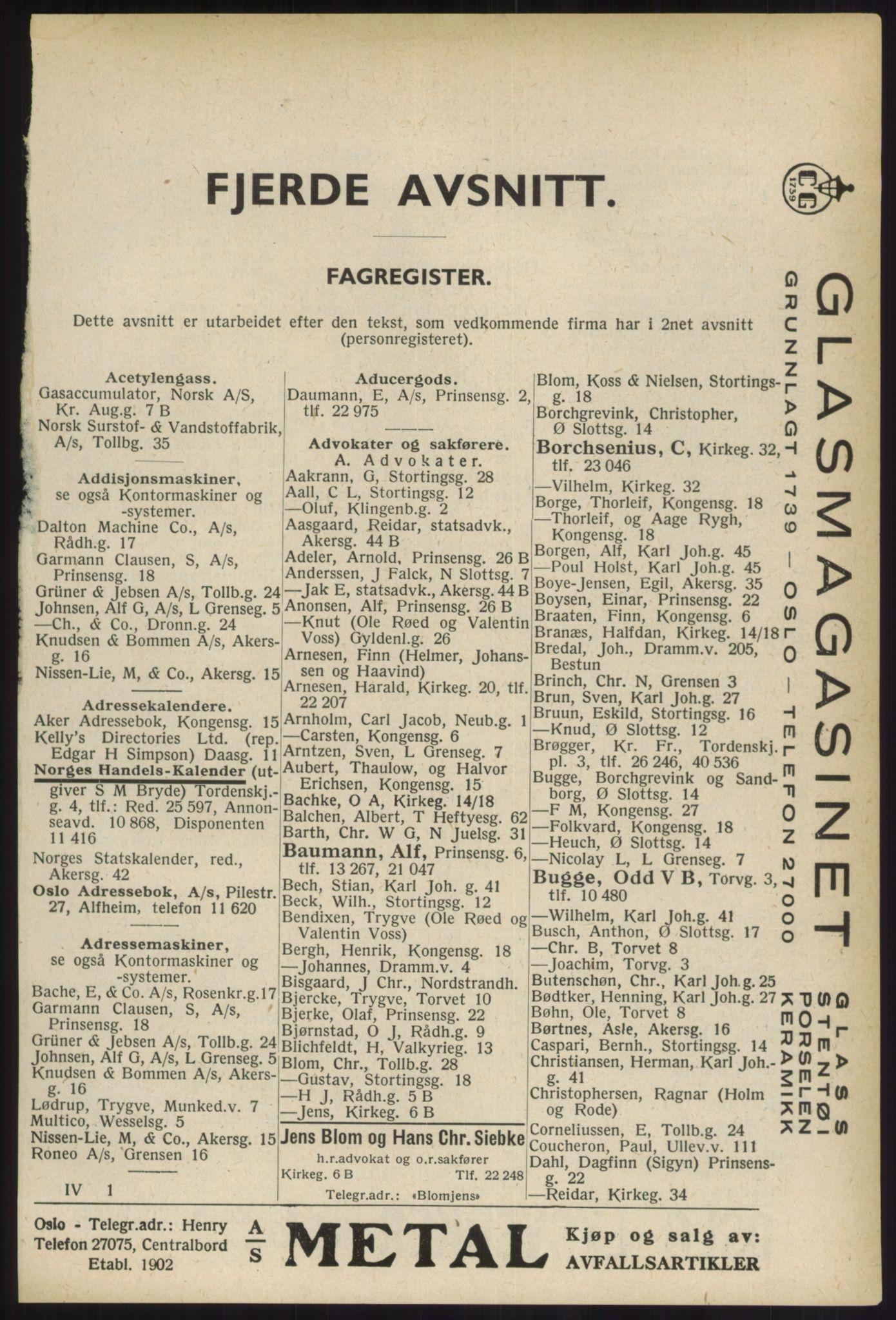 RA, Oslo adressebok (publikasjon)*, 1936, s. 2425