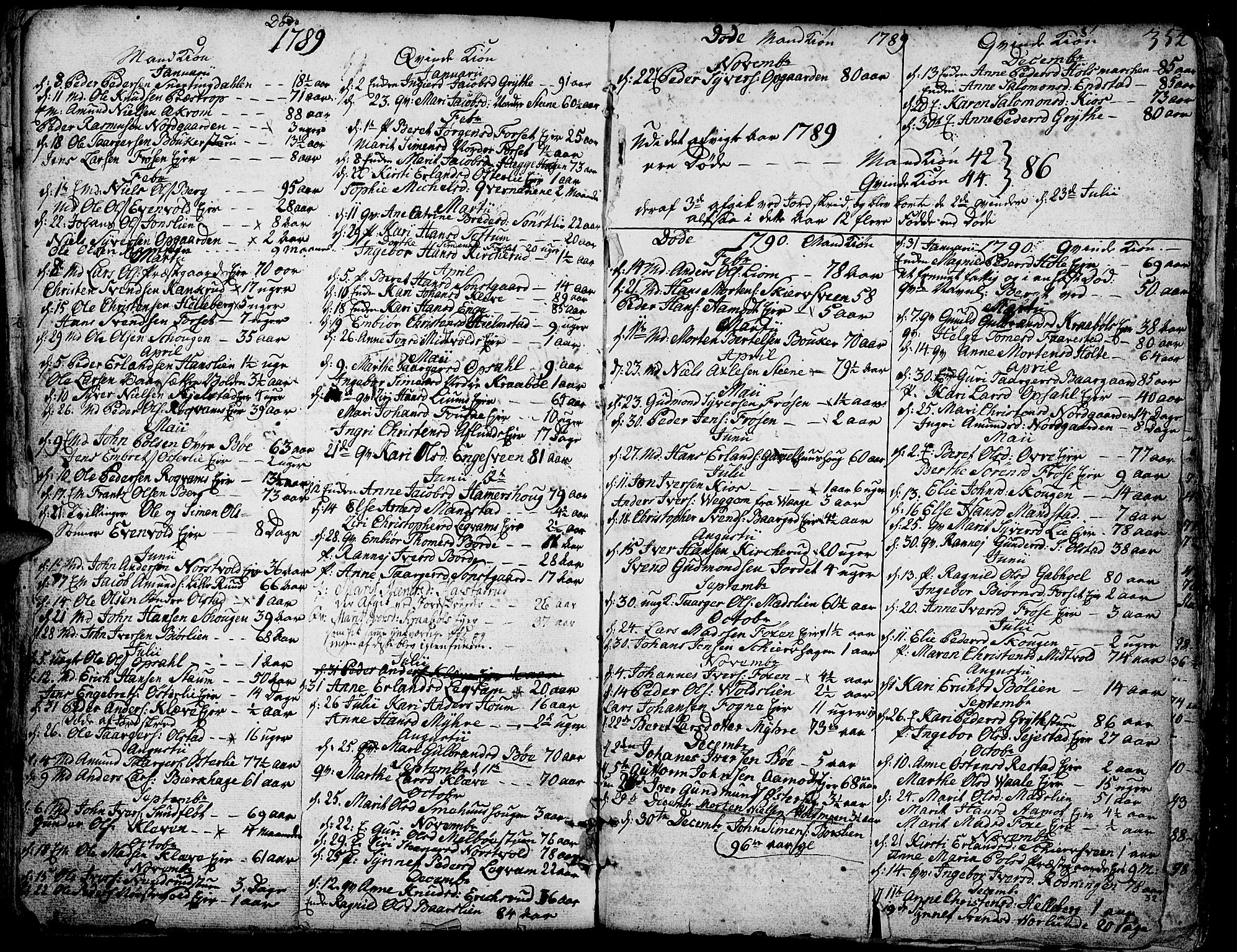 SAH, Gausdal prestekontor, Ministerialbok nr. 3, 1758-1809, s. 354