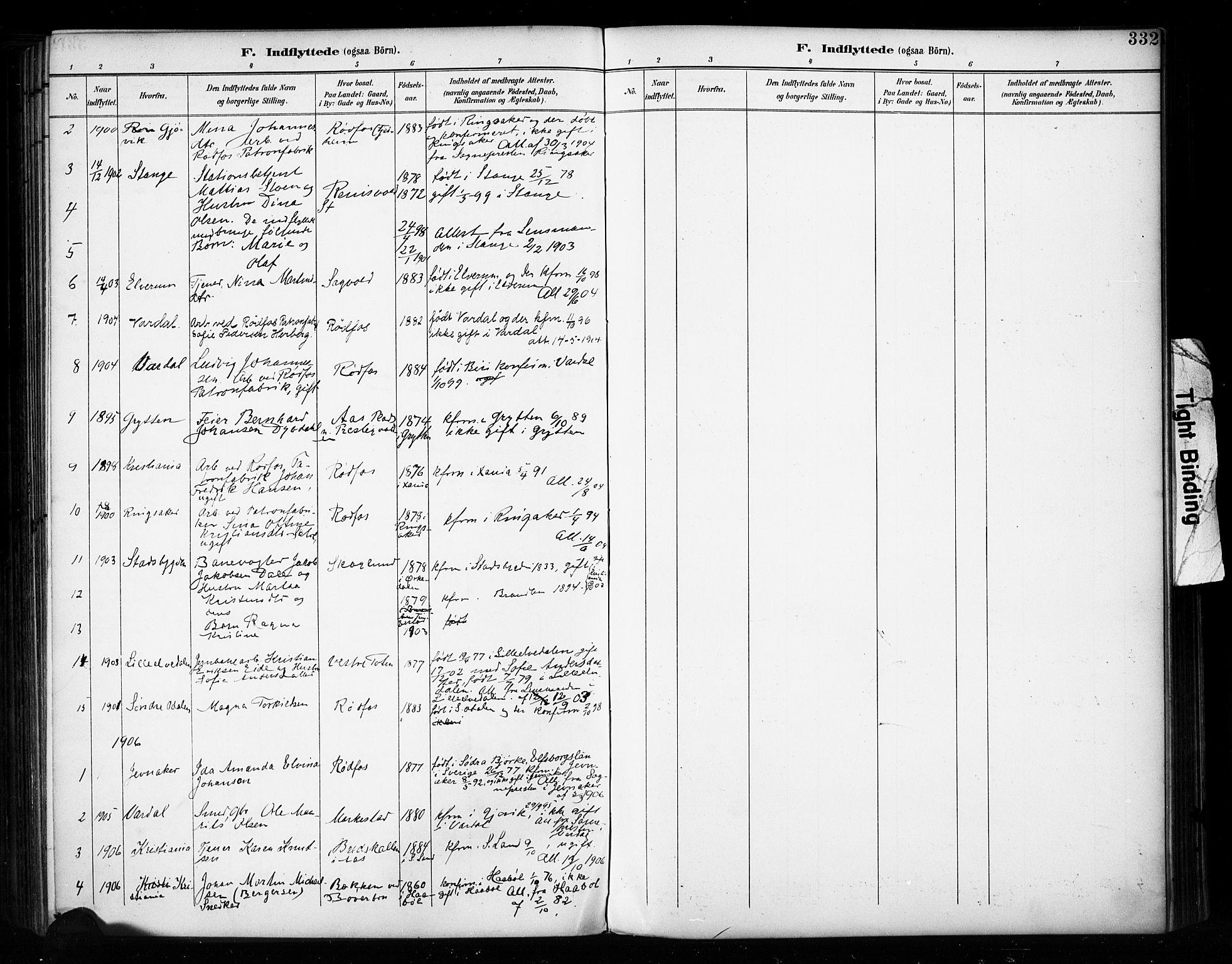 SAH, Vestre Toten prestekontor, Ministerialbok nr. 11, 1895-1906, s. 332