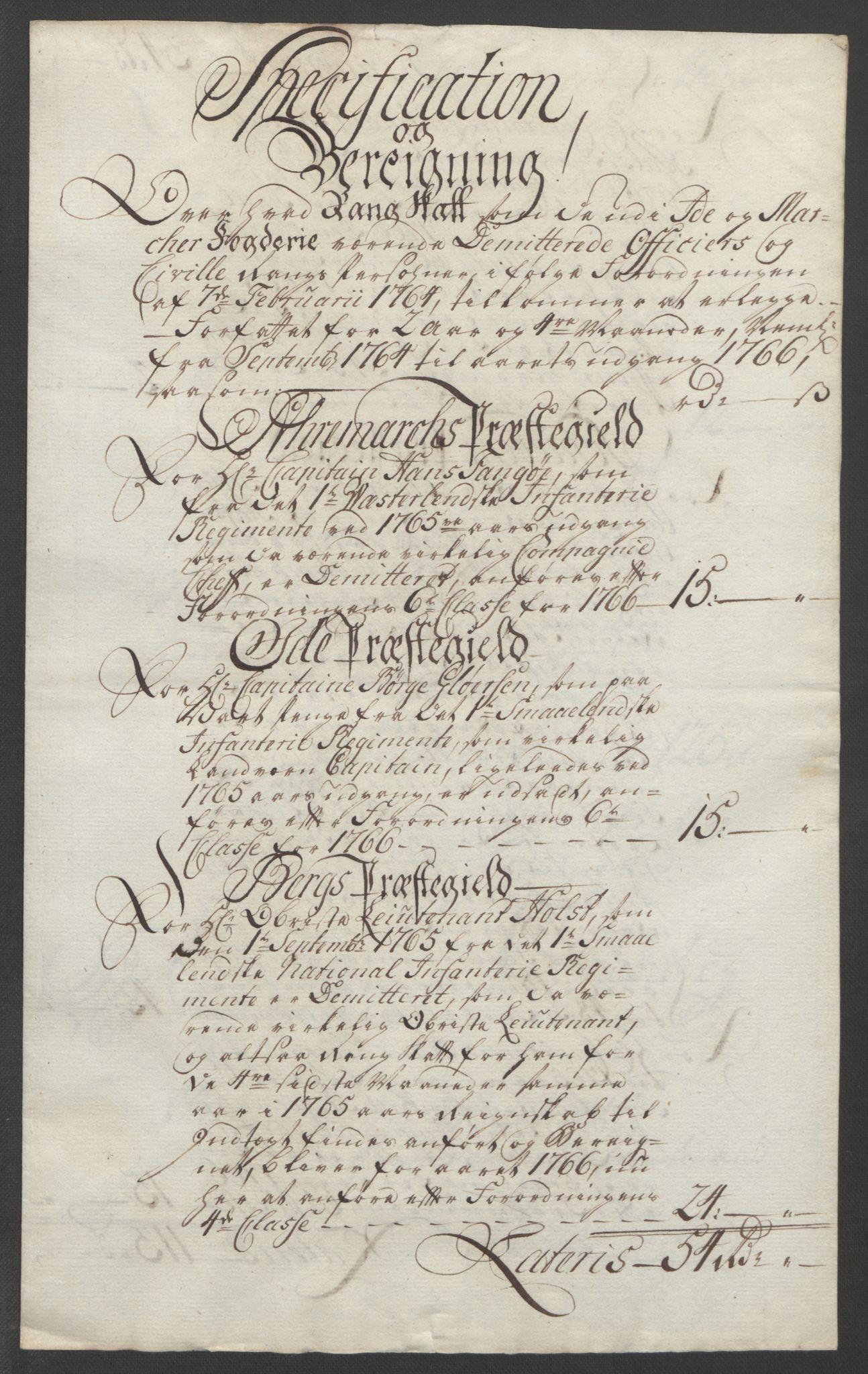 RA, Rentekammeret inntil 1814, Reviderte regnskaper, Fogderegnskap, R01/L0097: Ekstraskatten Idd og Marker, 1756-1767, s. 287