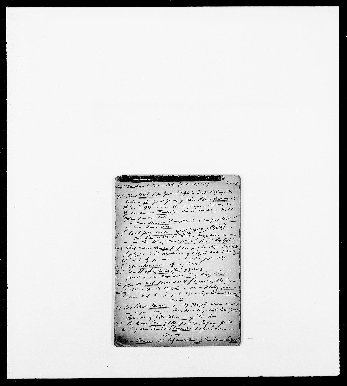SAO, Delgobe, Charles Antoine - samling, D/Db/L0001: Tilleggspakke, s. 1