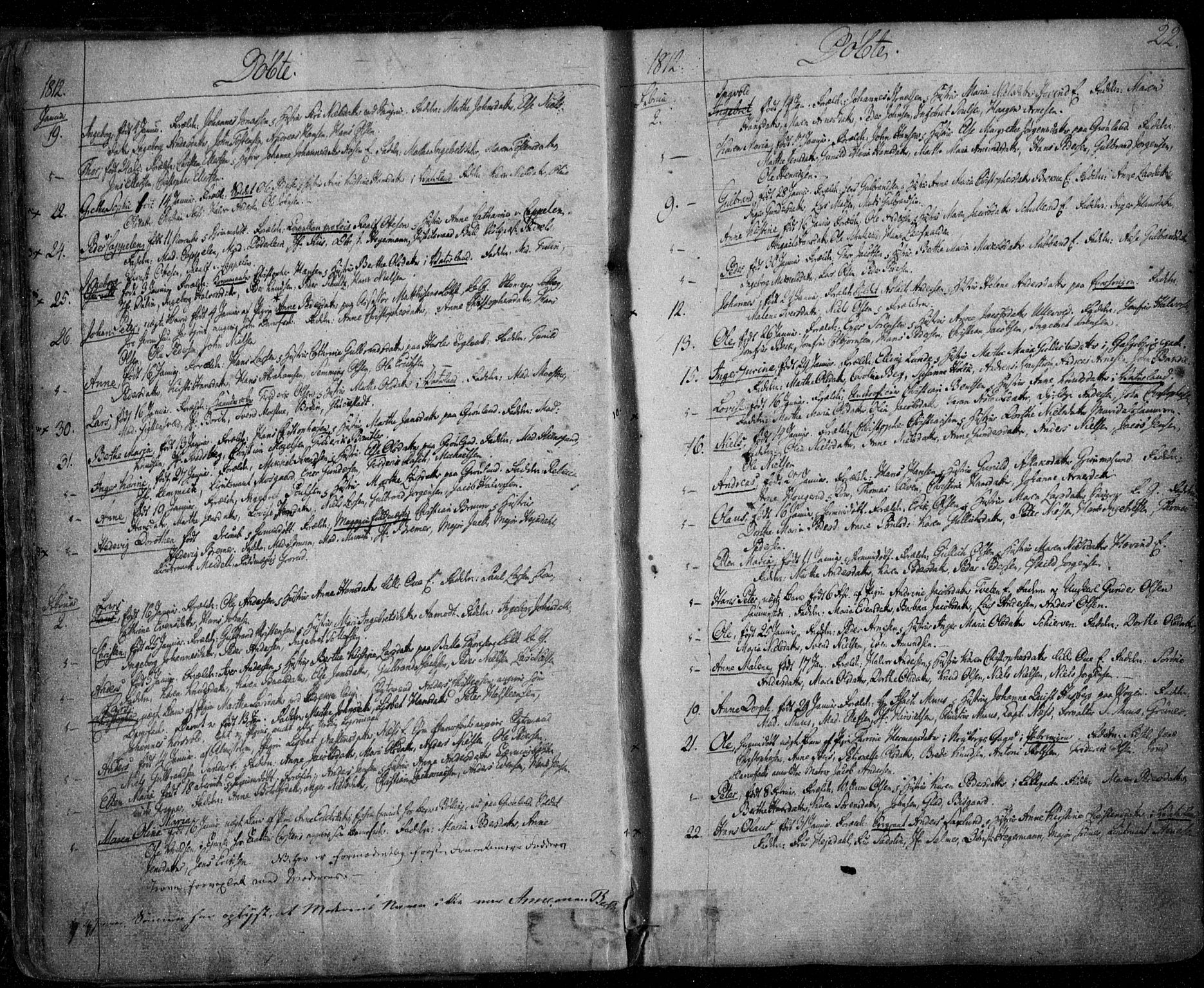 SAO, Aker prestekontor kirkebøker, F/L0011: Ministerialbok nr. 11, 1810-1819, s. 22