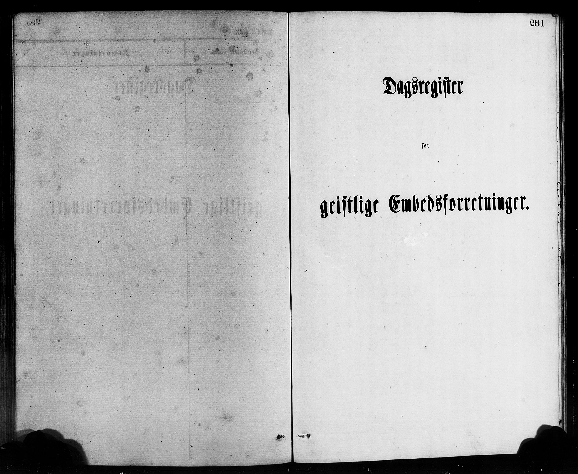 SAB, Bremanger Sokneprestembete, H/Hab: Klokkerbok nr. A 2, 1866-1889, s. 281
