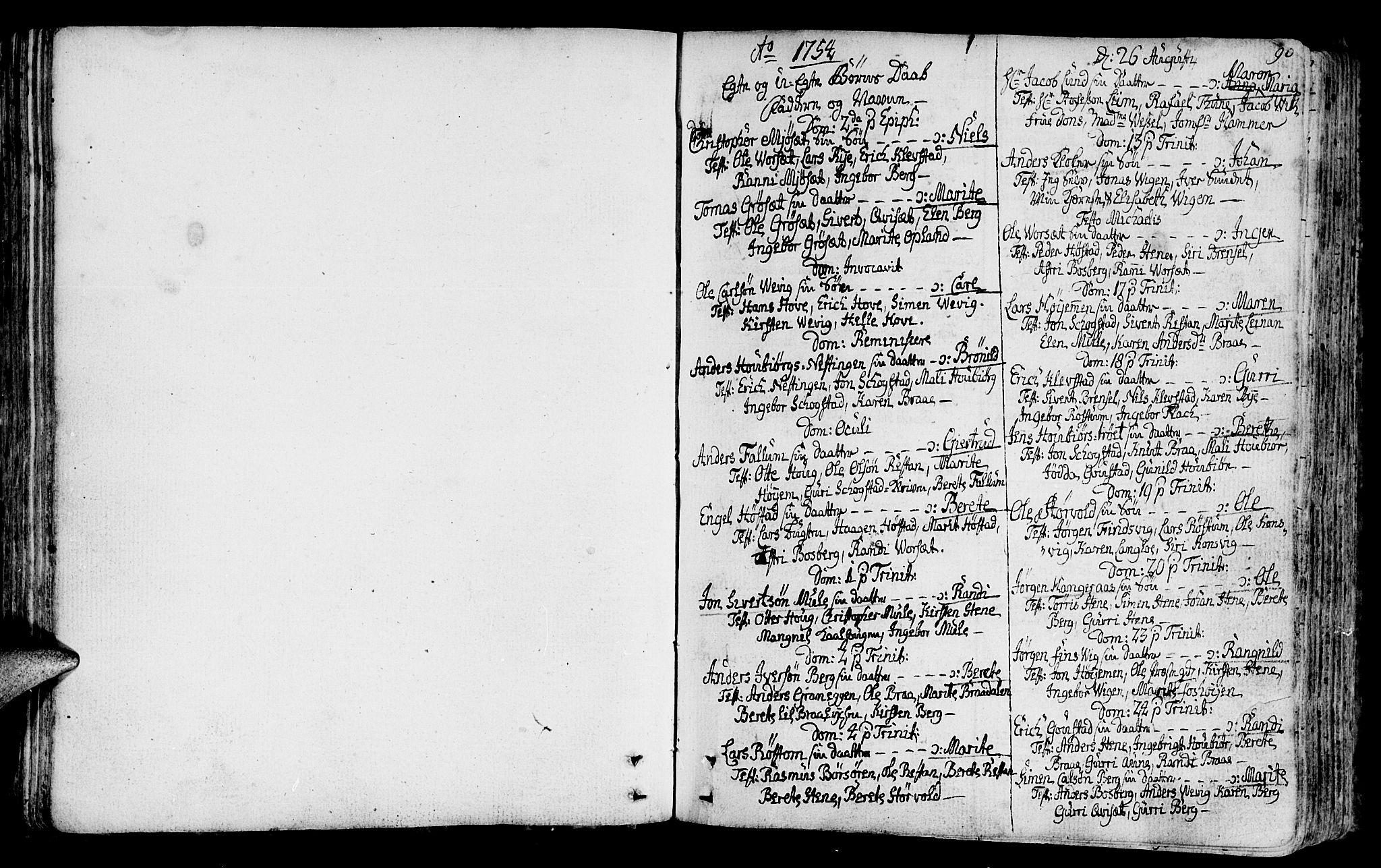 SAT, Ministerialprotokoller, klokkerbøker og fødselsregistre - Sør-Trøndelag, 612/L0370: Ministerialbok nr. 612A04, 1754-1802, s. 90