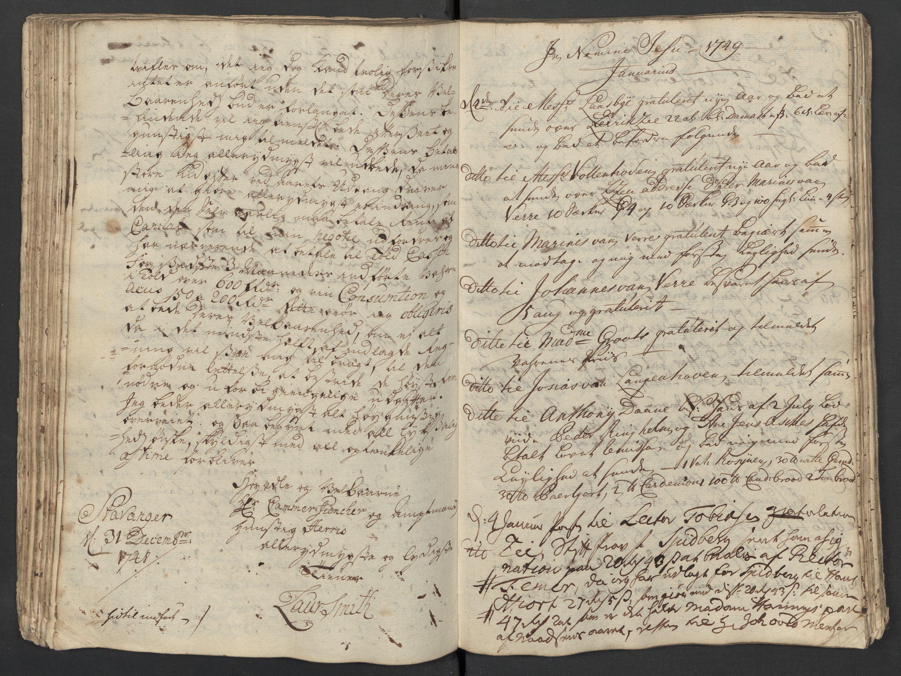 SAST, Pa 0119 - Smith, Lauritz Andersen og Lauritz Lauritzen, O/L0001: Kopibøker m.m., 1746-1755, s. 84