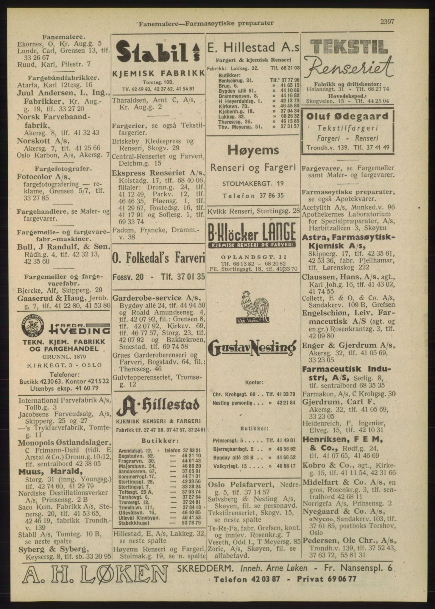 RA, Oslo adressebok (publikasjon)*, 1948, s. 2397