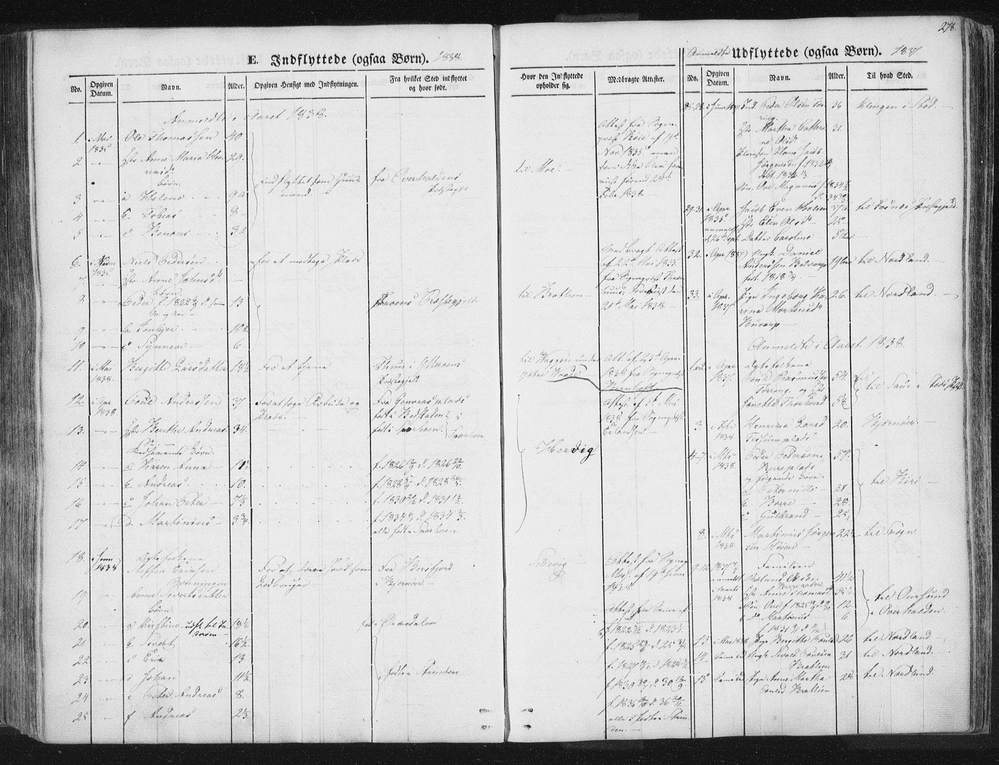 SAT, Ministerialprotokoller, klokkerbøker og fødselsregistre - Nord-Trøndelag, 741/L0392: Ministerialbok nr. 741A06, 1836-1848, s. 278