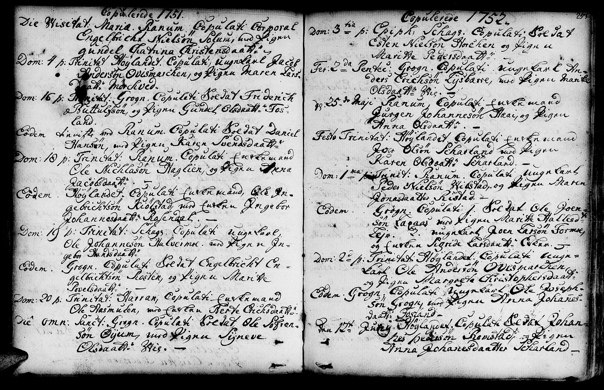 SAT, Ministerialprotokoller, klokkerbøker og fødselsregistre - Nord-Trøndelag, 764/L0542: Ministerialbok nr. 764A02, 1748-1779, s. 253
