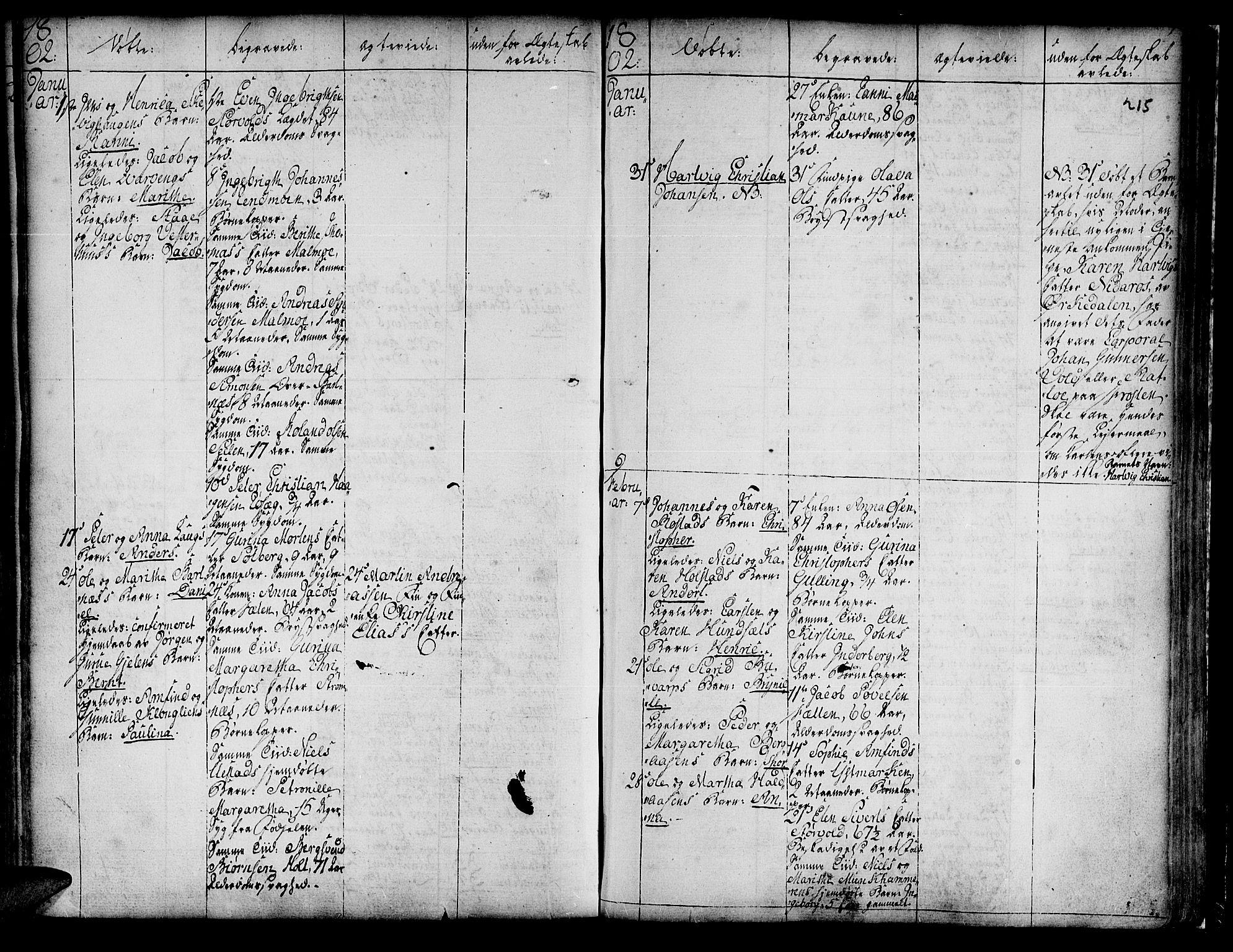 SAT, Ministerialprotokoller, klokkerbøker og fødselsregistre - Nord-Trøndelag, 741/L0385: Ministerialbok nr. 741A01, 1722-1815, s. 215
