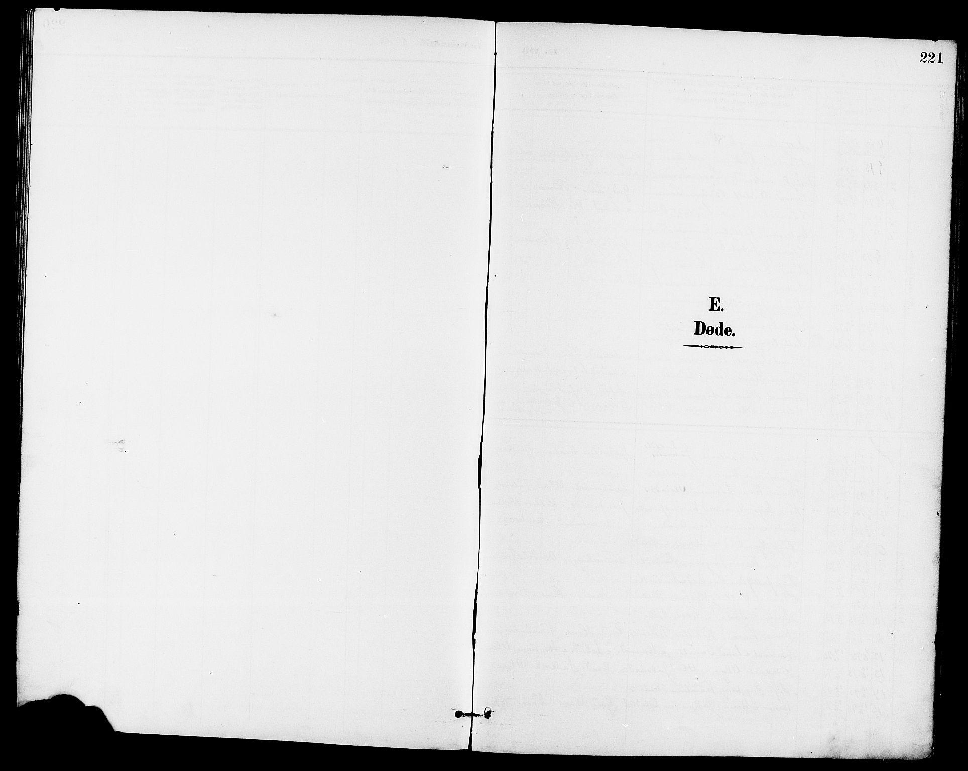 SAKO, Eidanger kirkebøker, G/Ga/L0003: Klokkerbok nr. 3, 1893-1911, s. 221
