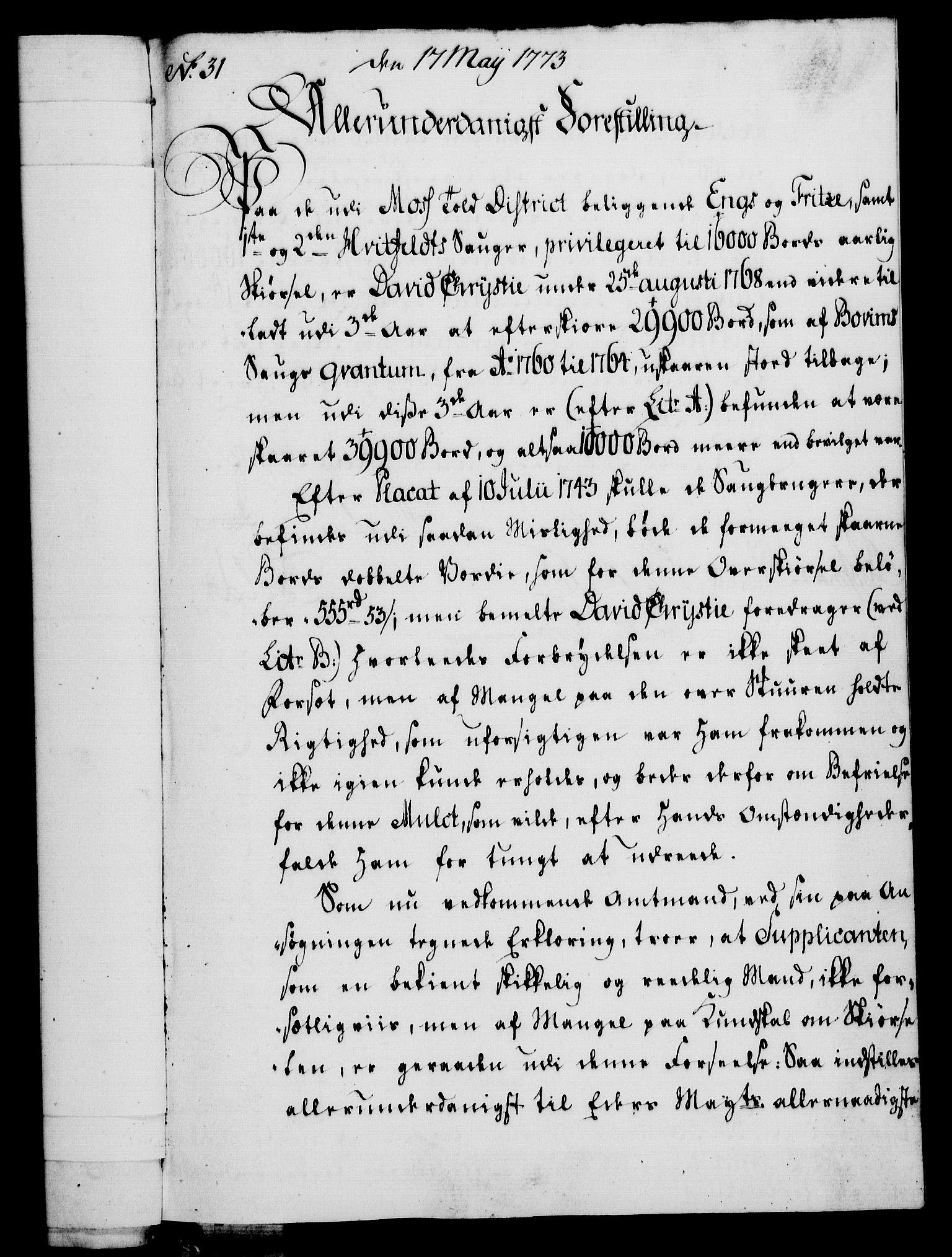 RA, Rentekammeret, Kammerkanselliet, G/Gf/Gfa/L0055: Norsk relasjons- og resolusjonsprotokoll (merket RK 52.55), 1773, s. 124