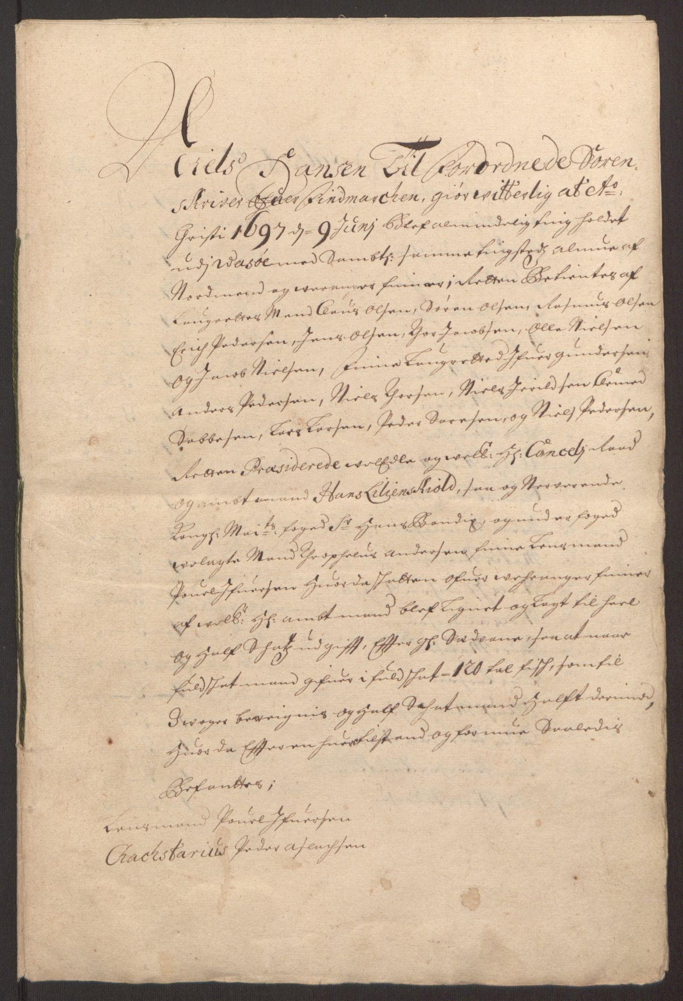 RA, Rentekammeret inntil 1814, Reviderte regnskaper, Fogderegnskap, R69/L4851: Fogderegnskap Finnmark/Vardøhus, 1691-1700, s. 305
