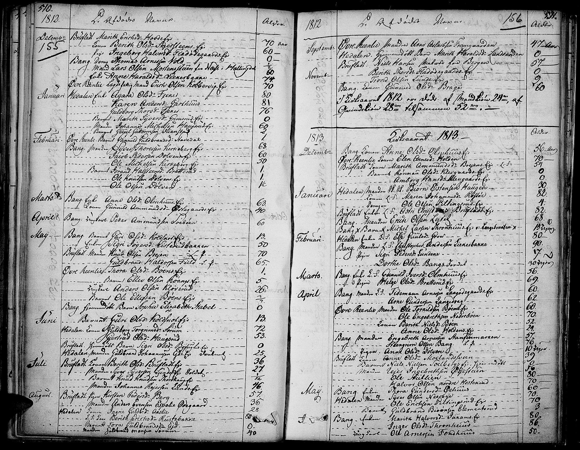 SAH, Sør-Aurdal prestekontor, Ministerialbok nr. 1, 1807-1815, s. 155-156