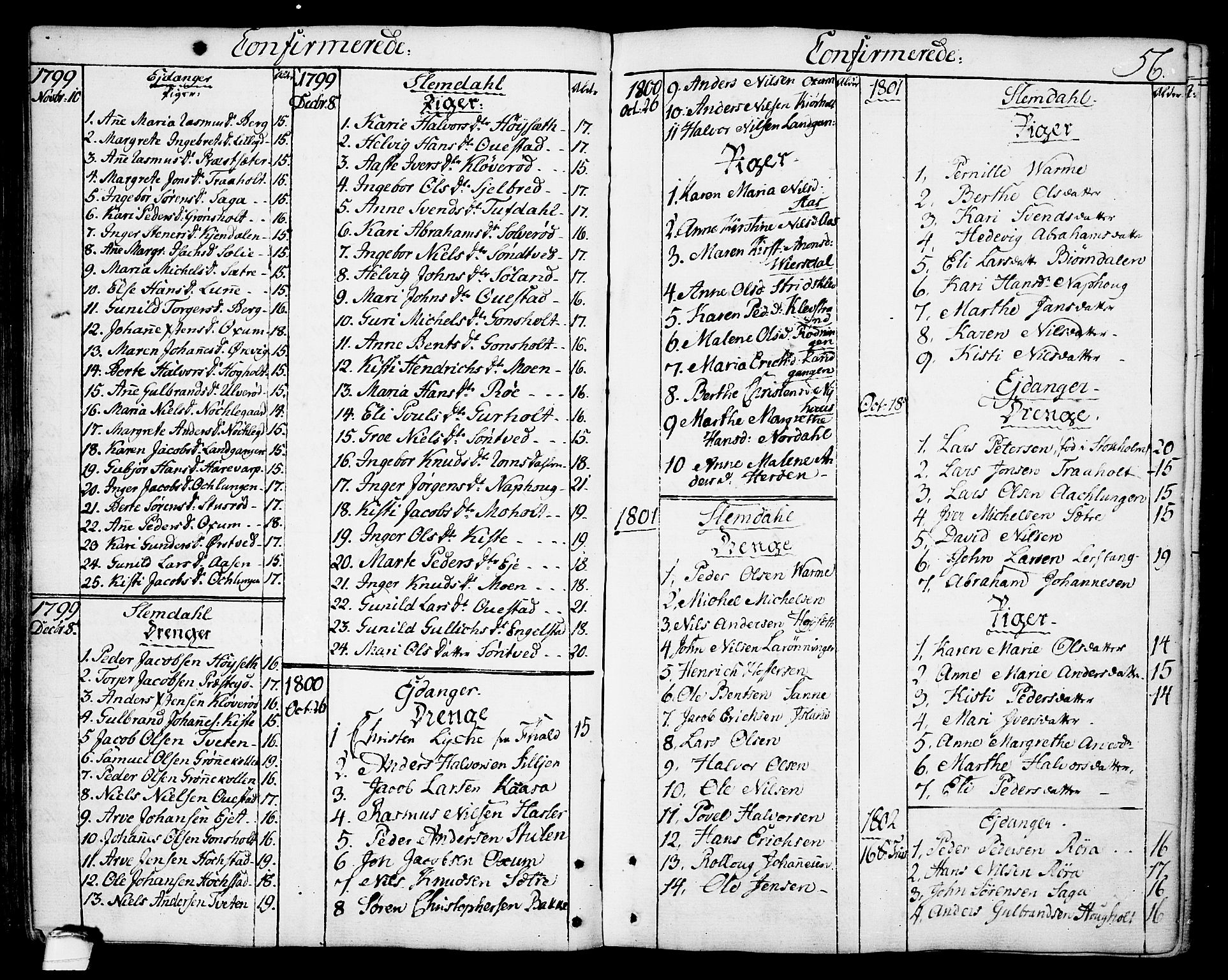 SAKO, Eidanger kirkebøker, F/Fa/L0006: Ministerialbok nr. 6, 1764-1814, s. 56
