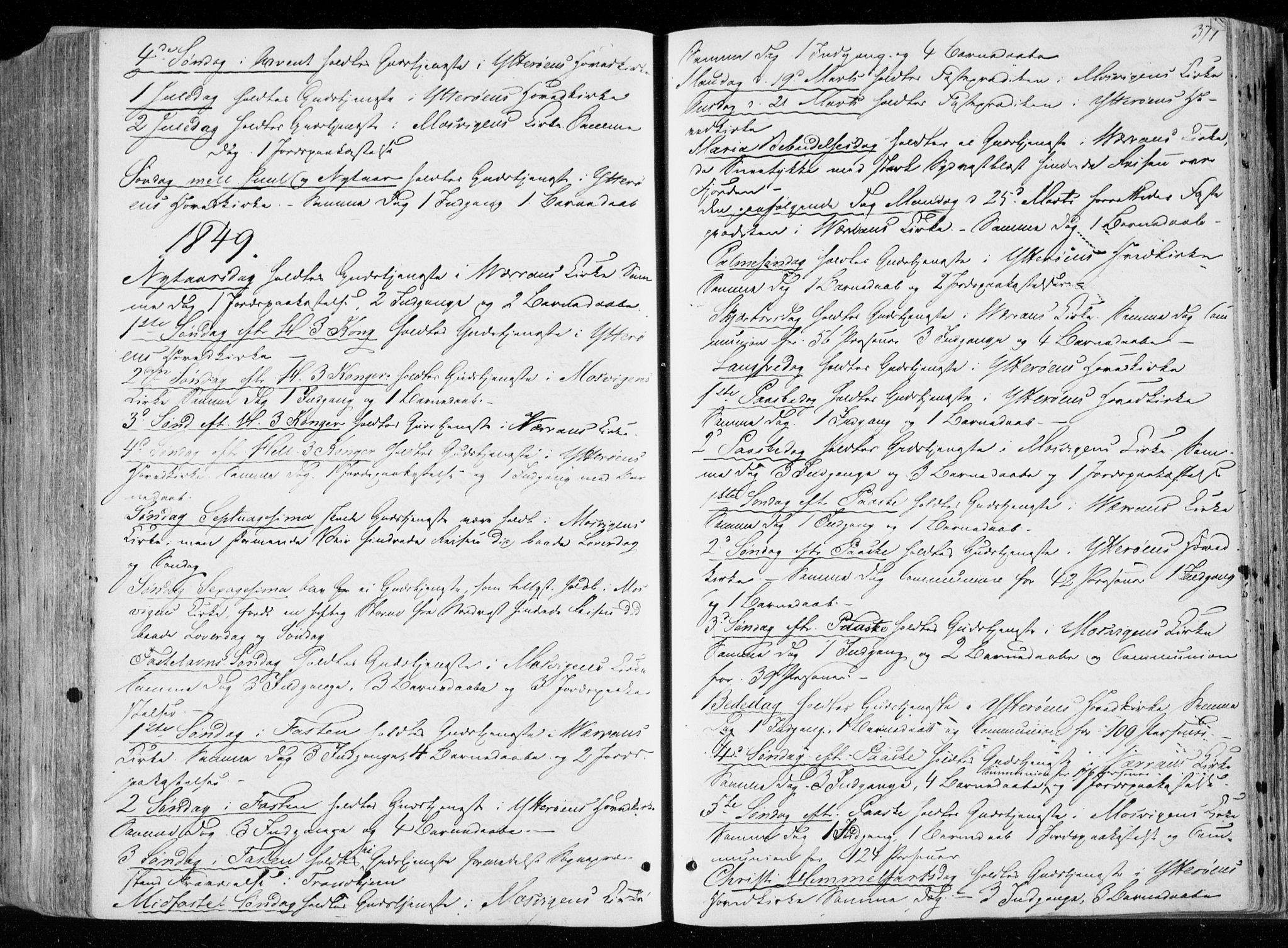 SAT, Ministerialprotokoller, klokkerbøker og fødselsregistre - Nord-Trøndelag, 722/L0218: Ministerialbok nr. 722A05, 1843-1868, s. 377