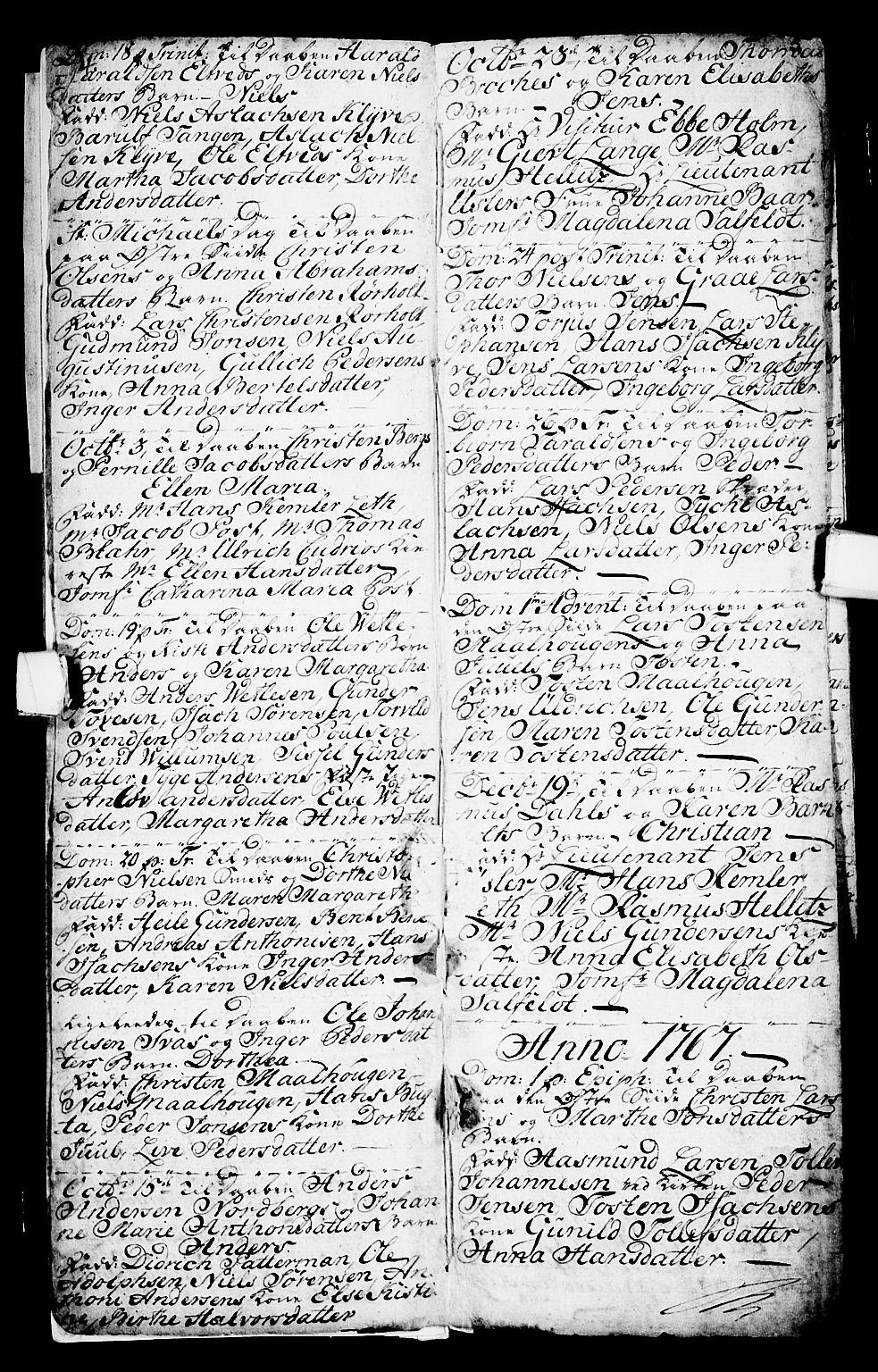 SAKO, Porsgrunn kirkebøker , G/Ga/L0001: Klokkerbok nr. I 1, 1766-1790, s. 4-5