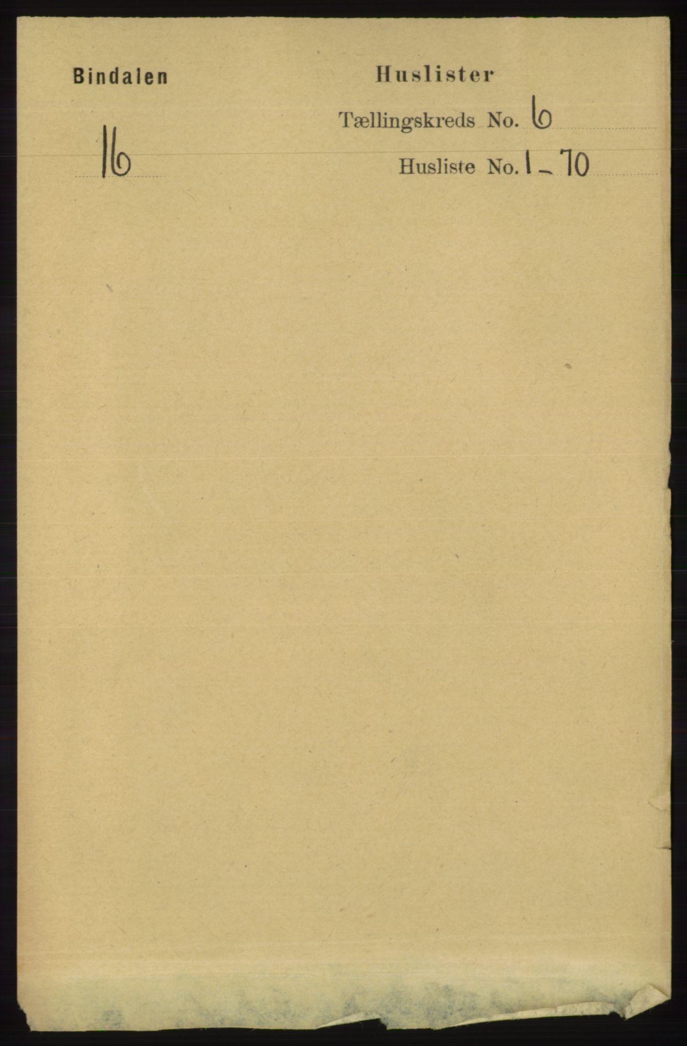 RA, Folketelling 1891 for 1811 Bindal herred, 1891, s. 1640