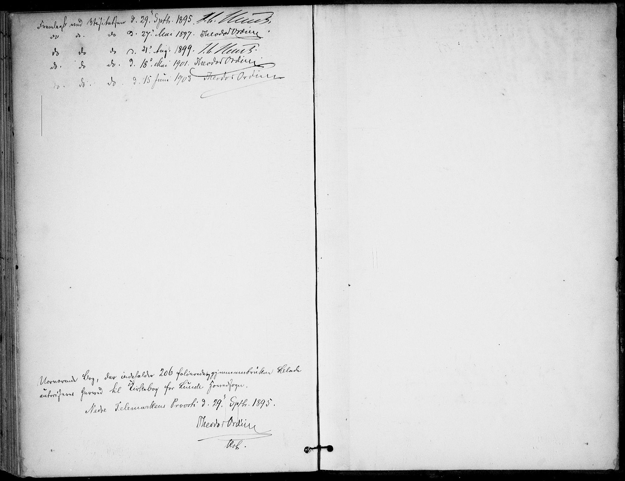 SAKO, Lunde kirkebøker, F/Fa/L0003: Ministerialbok nr. I 3, 1893-1902