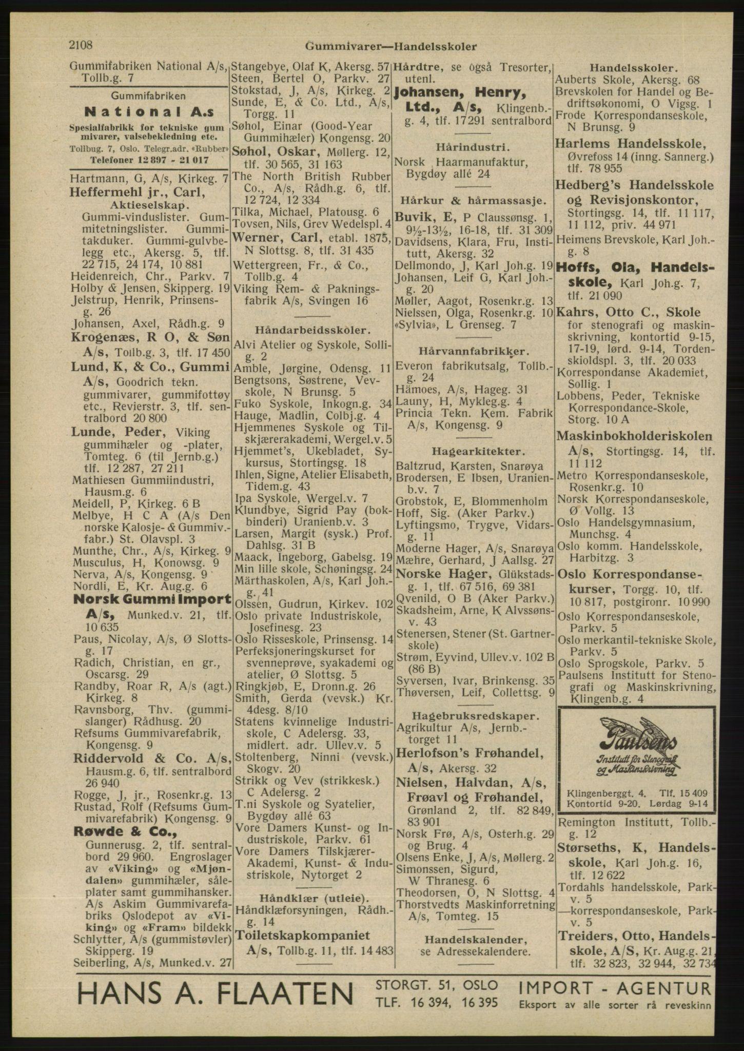 RA, Oslo adressebok (publikasjon)*, 1945, s. 2108
