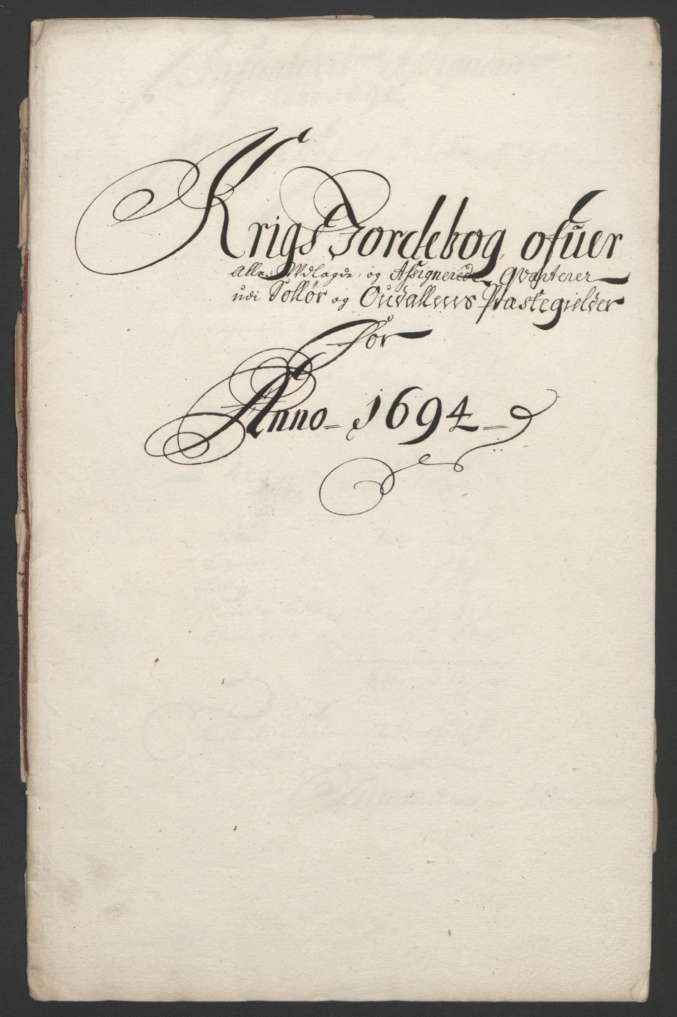 RA, Rentekammeret inntil 1814, Reviderte regnskaper, Fogderegnskap, R13/L0832: Fogderegnskap Solør, Odal og Østerdal, 1694, s. 320