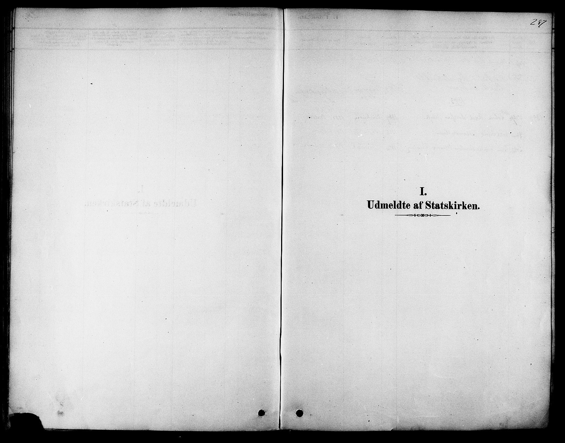 SAT, Ministerialprotokoller, klokkerbøker og fødselsregistre - Sør-Trøndelag, 616/L0410: Ministerialbok nr. 616A07, 1878-1893, s. 287
