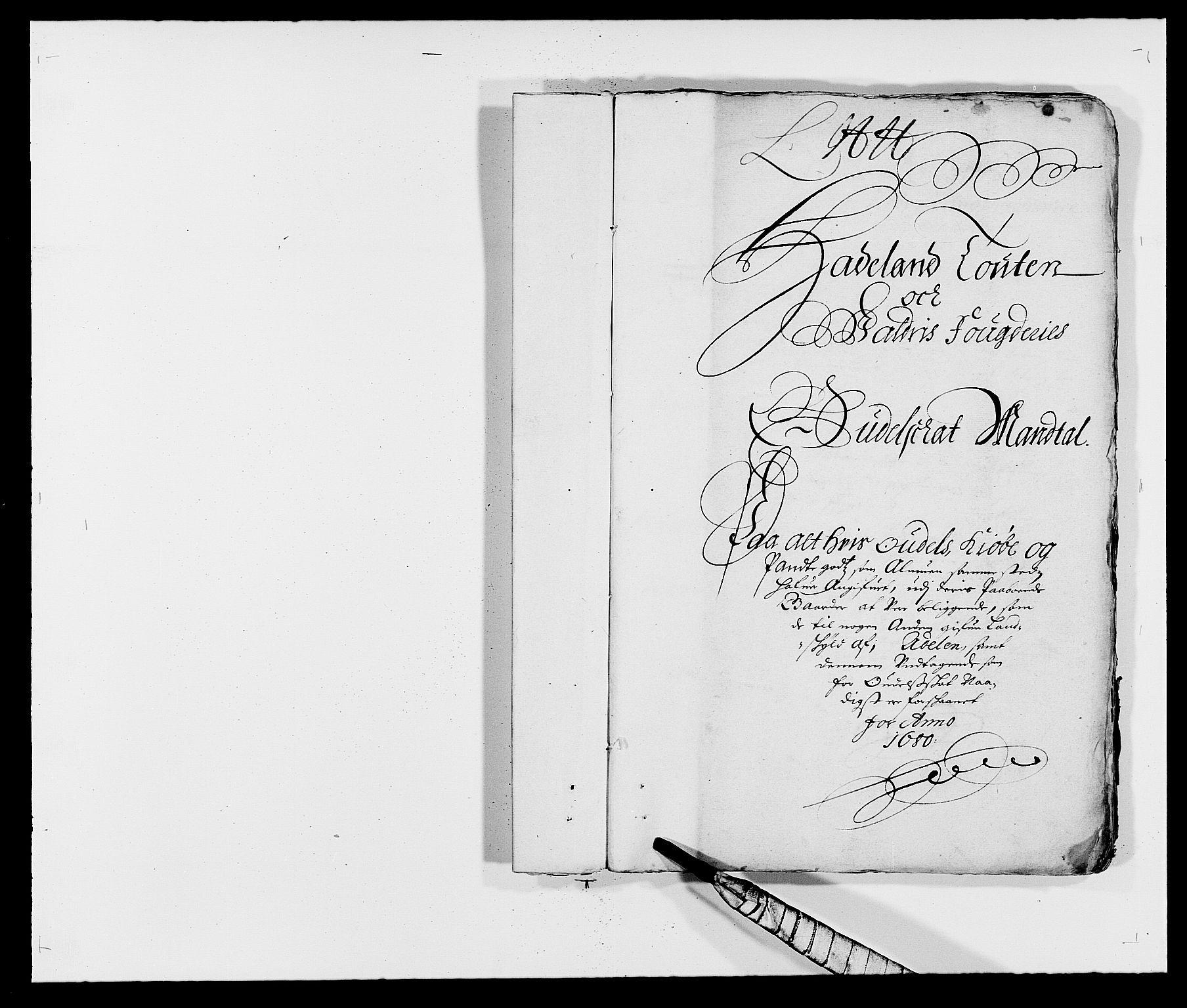 RA, Rentekammeret inntil 1814, Reviderte regnskaper, Fogderegnskap, R18/L1277: Fogderegnskap Hadeland, Toten og Valdres, 1680, s. 46