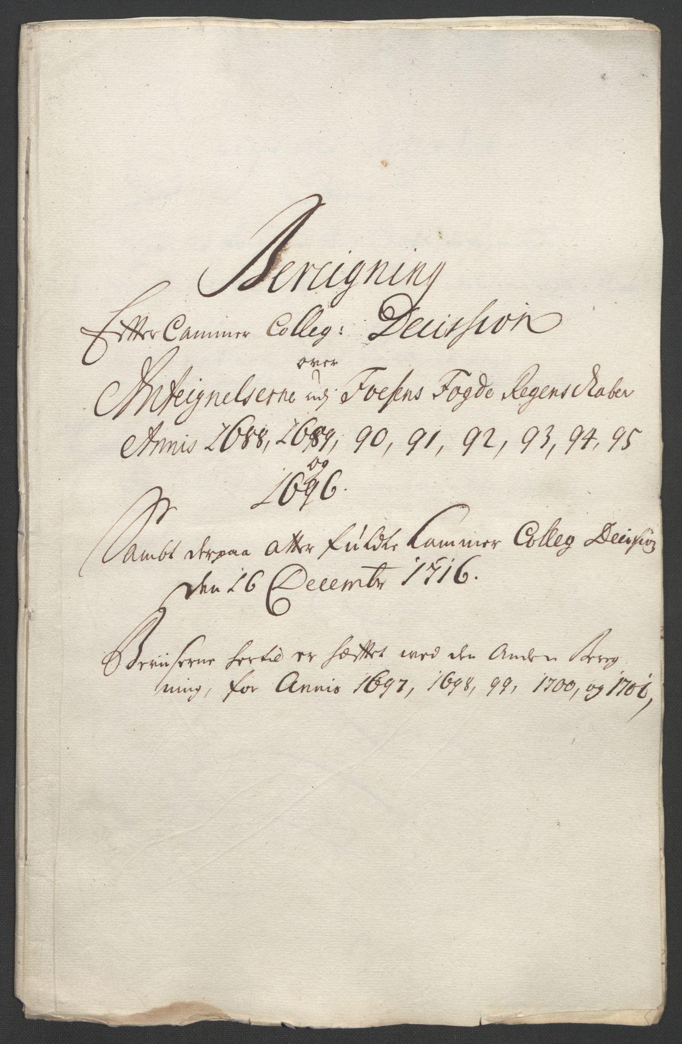 RA, Rentekammeret inntil 1814, Reviderte regnskaper, Fogderegnskap, R57/L3851: Fogderegnskap Fosen, 1695-1696, s. 318