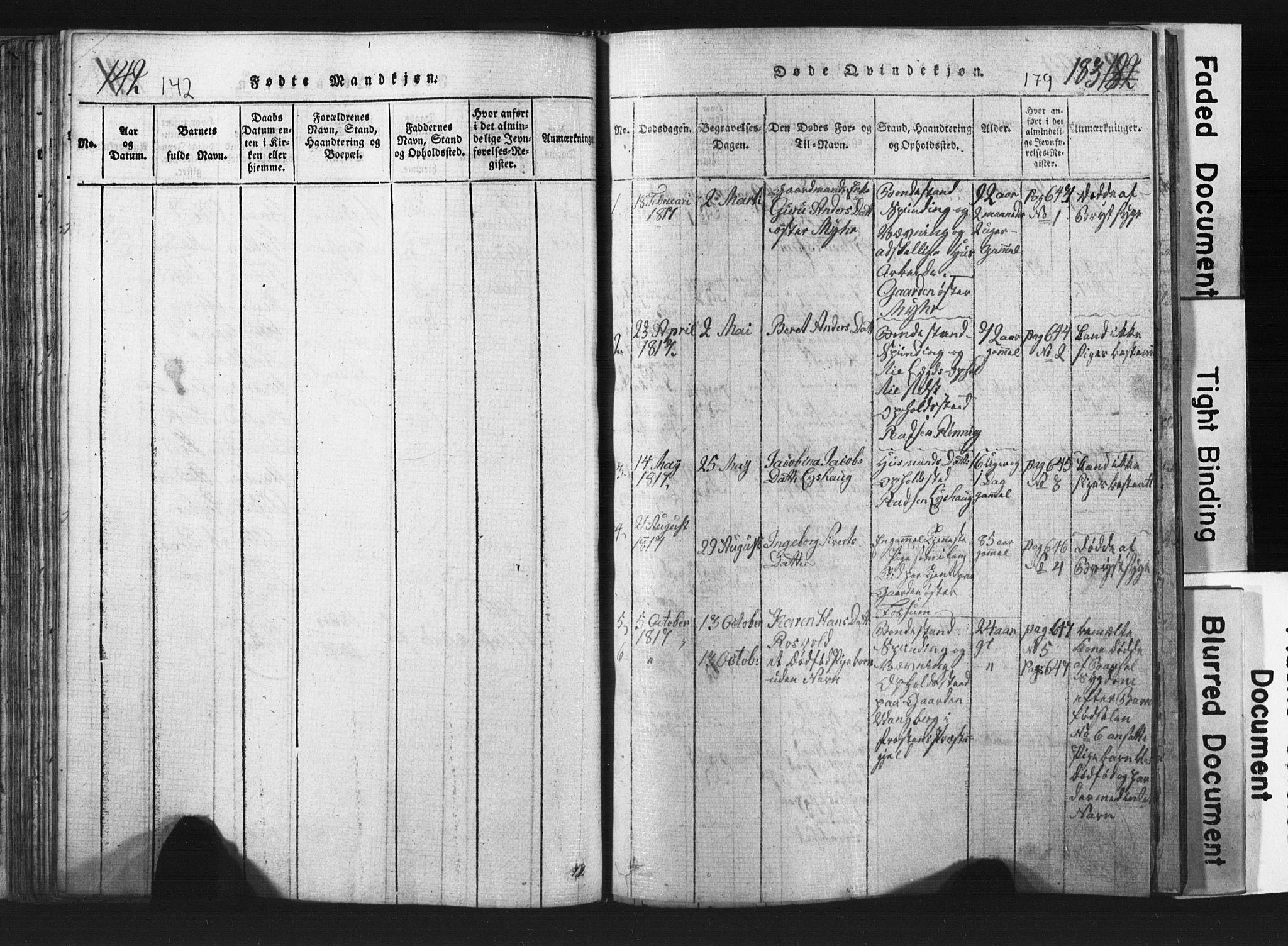 SAT, Ministerialprotokoller, klokkerbøker og fødselsregistre - Nord-Trøndelag, 701/L0017: Klokkerbok nr. 701C01, 1817-1825, s. 178-179