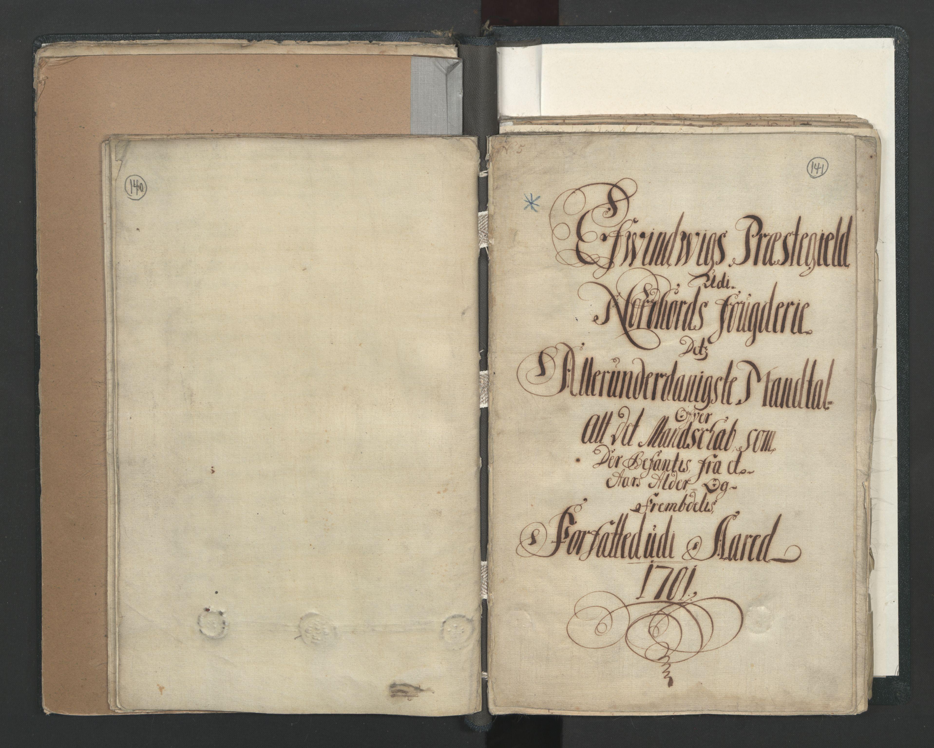 RA, Manntallet 1701, nr. 7: Nordhordland og Voss fogderi, 1701, s. 140-141