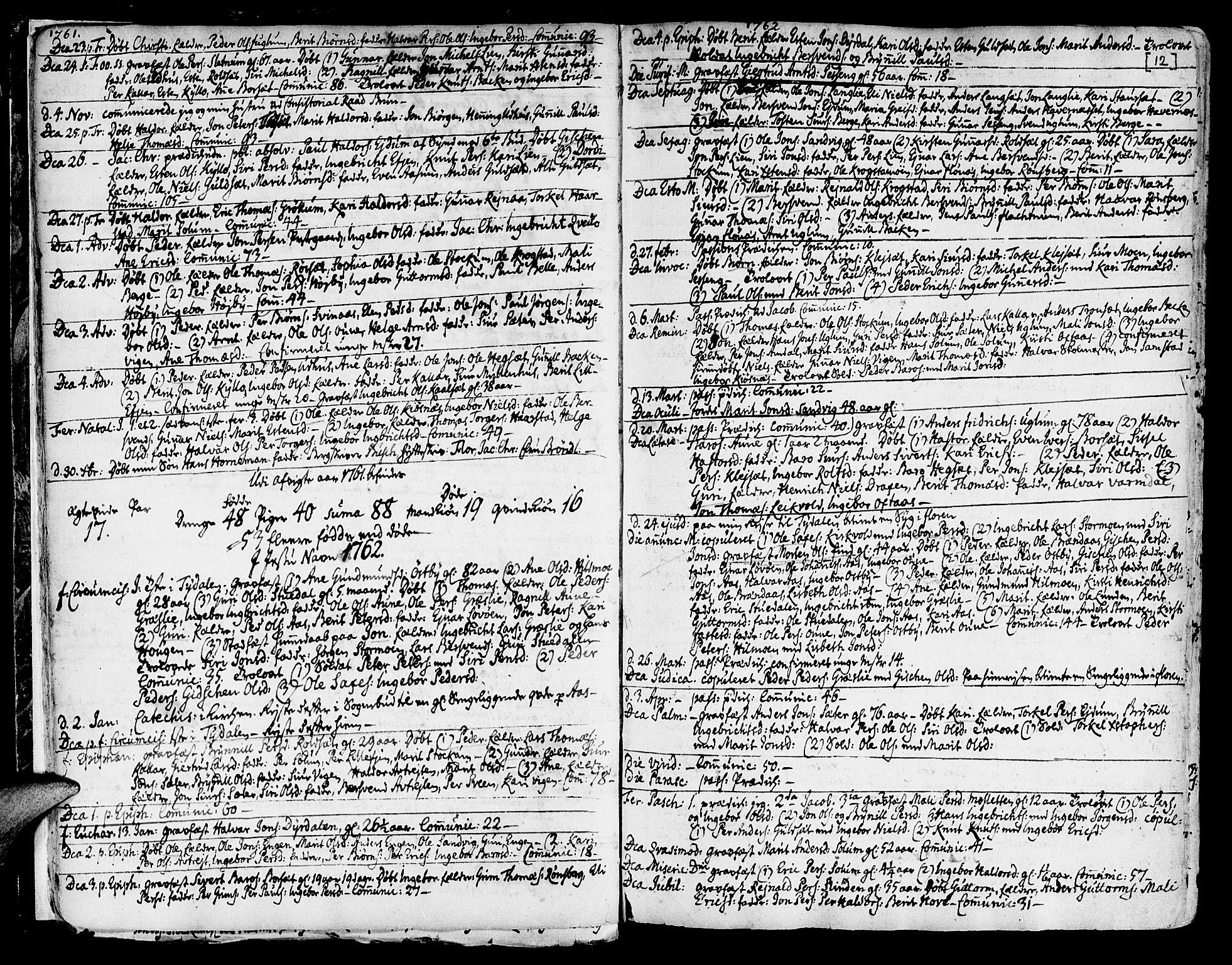 SAT, Ministerialprotokoller, klokkerbøker og fødselsregistre - Sør-Trøndelag, 695/L1138: Ministerialbok nr. 695A02 /1, 1757-1801, s. 12