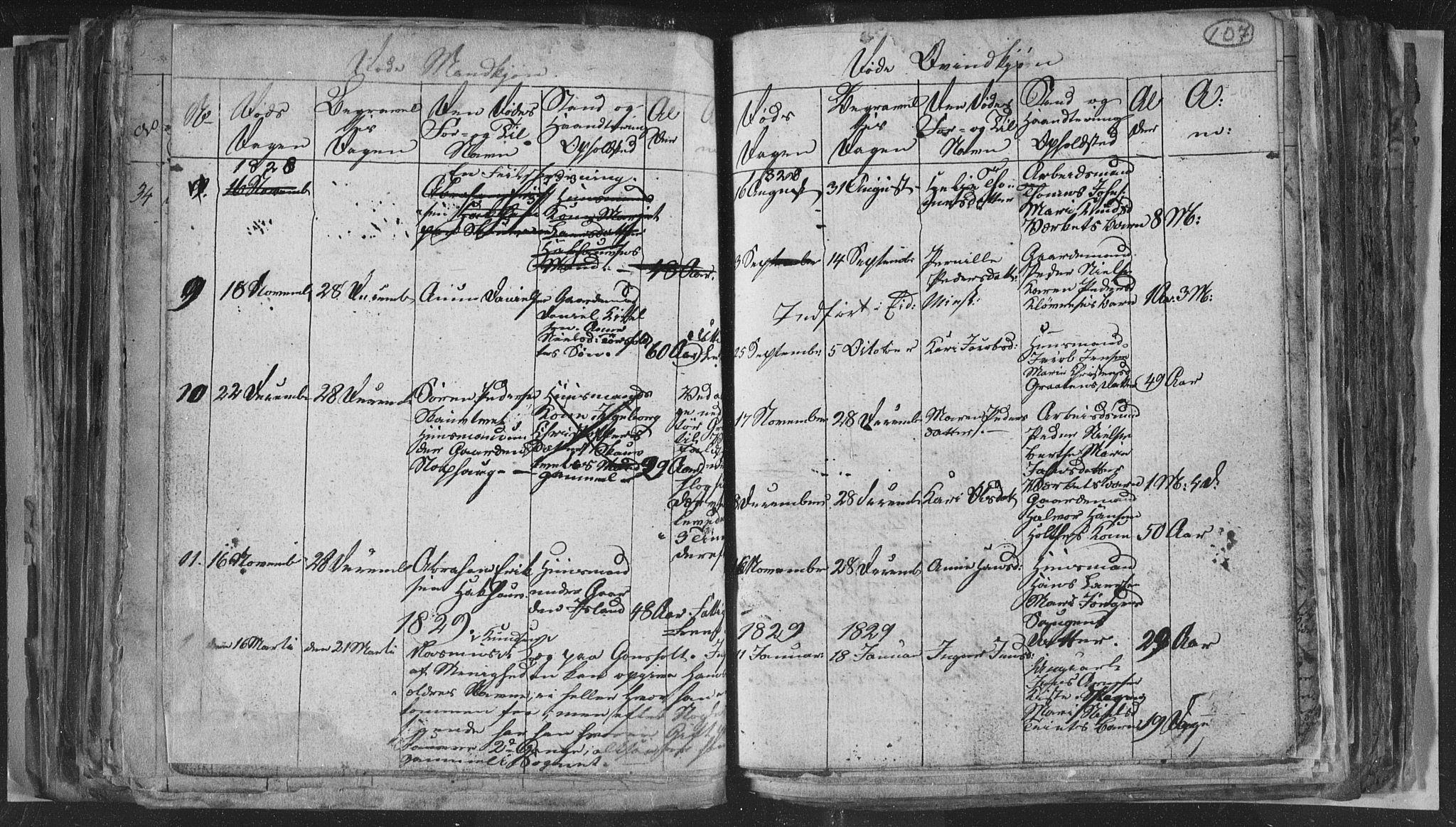 SAKO, Siljan kirkebøker, G/Ga/L0001: Klokkerbok nr. 1, 1827-1847, s. 107