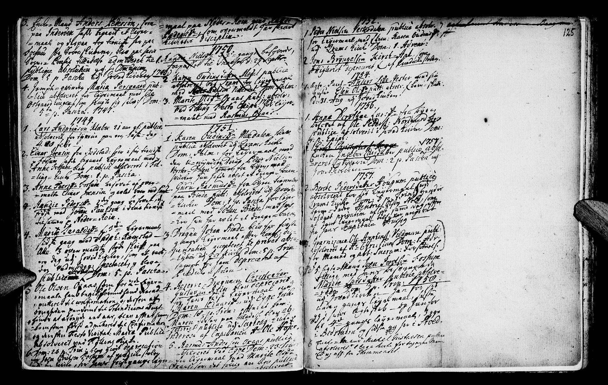 SAT, Ministerialprotokoller, klokkerbøker og fødselsregistre - Nord-Trøndelag, 746/L0439: Ministerialbok nr. 746A01, 1688-1759, s. 125