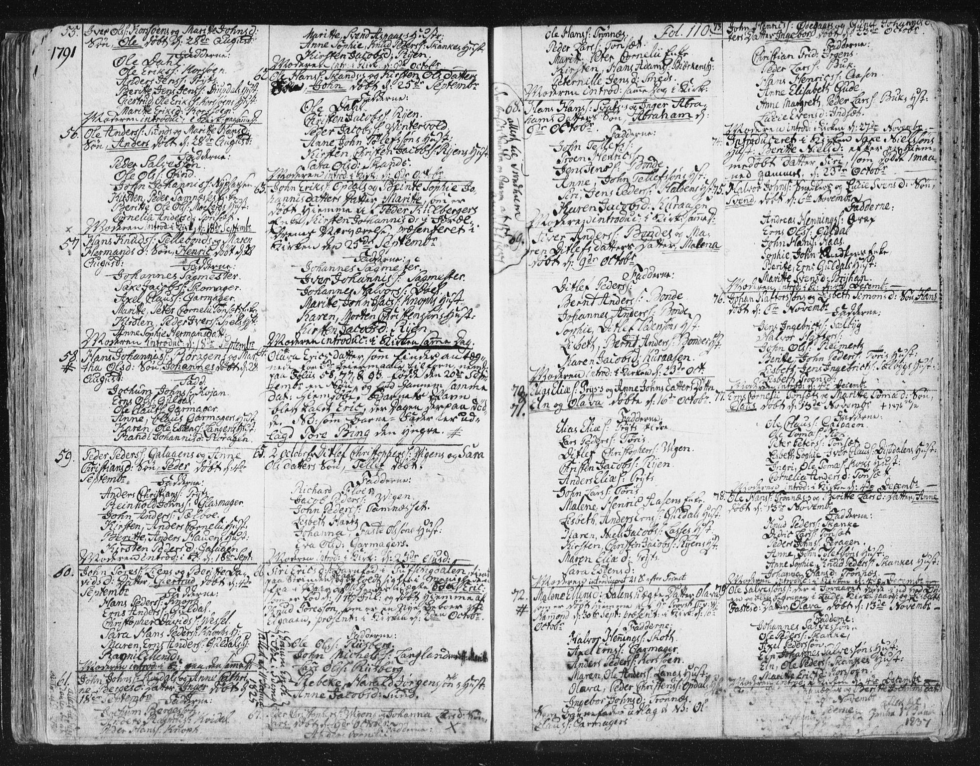 SAT, Ministerialprotokoller, klokkerbøker og fødselsregistre - Sør-Trøndelag, 681/L0926: Ministerialbok nr. 681A04, 1767-1797, s. 110