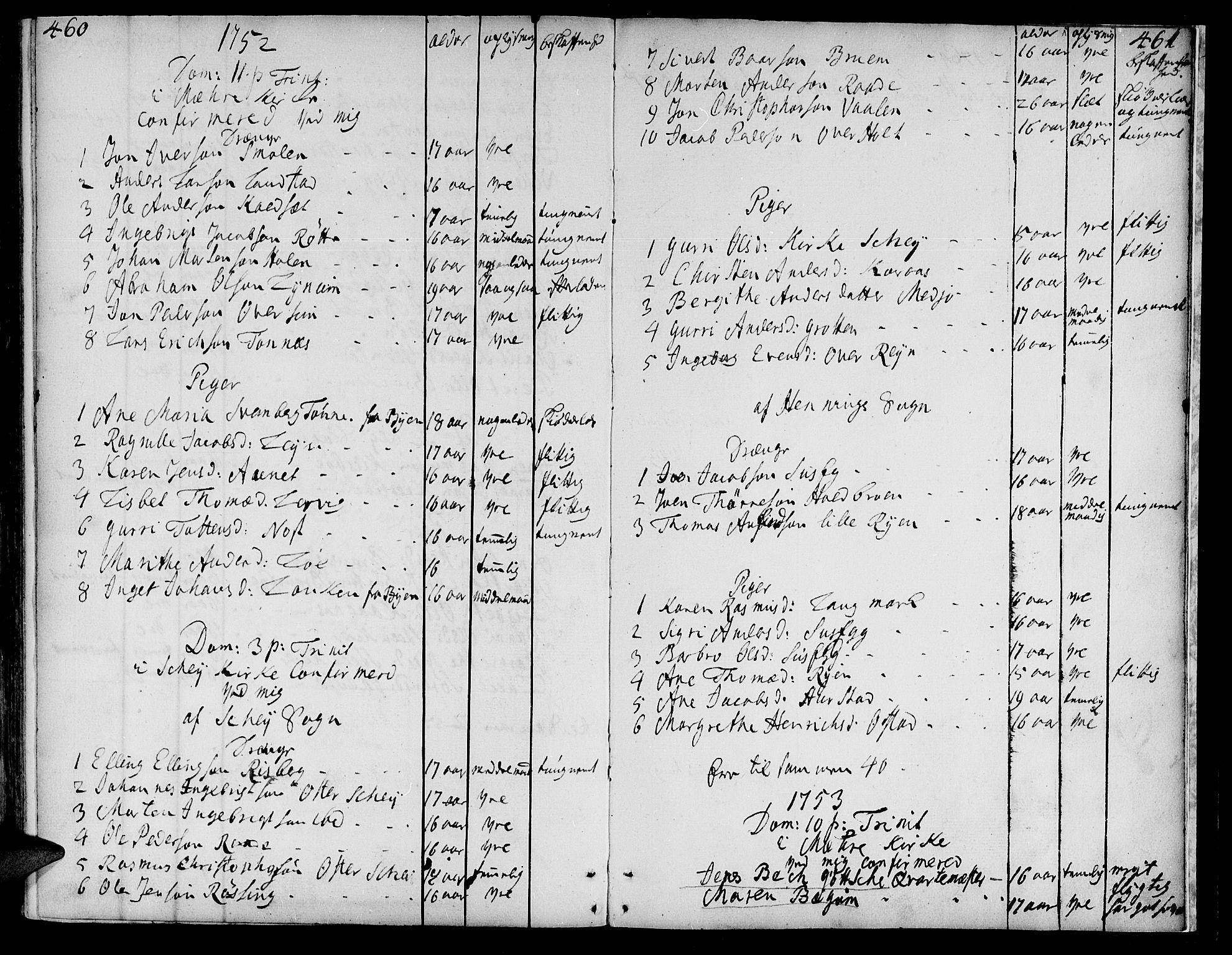 SAT, Ministerialprotokoller, klokkerbøker og fødselsregistre - Nord-Trøndelag, 735/L0330: Ministerialbok nr. 735A01, 1740-1766, s. 460-461