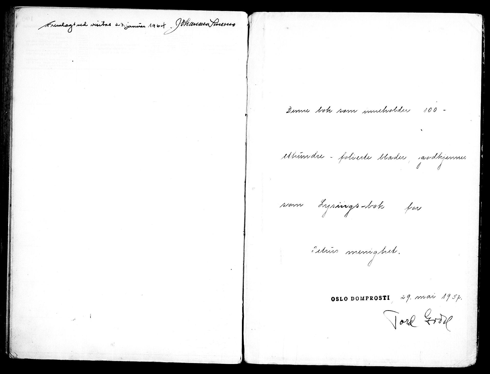 SAO, Petrus prestekontor Kirkebøker, H/Ha/L0006: Lysningsprotokoll nr. 6, 1957-1966
