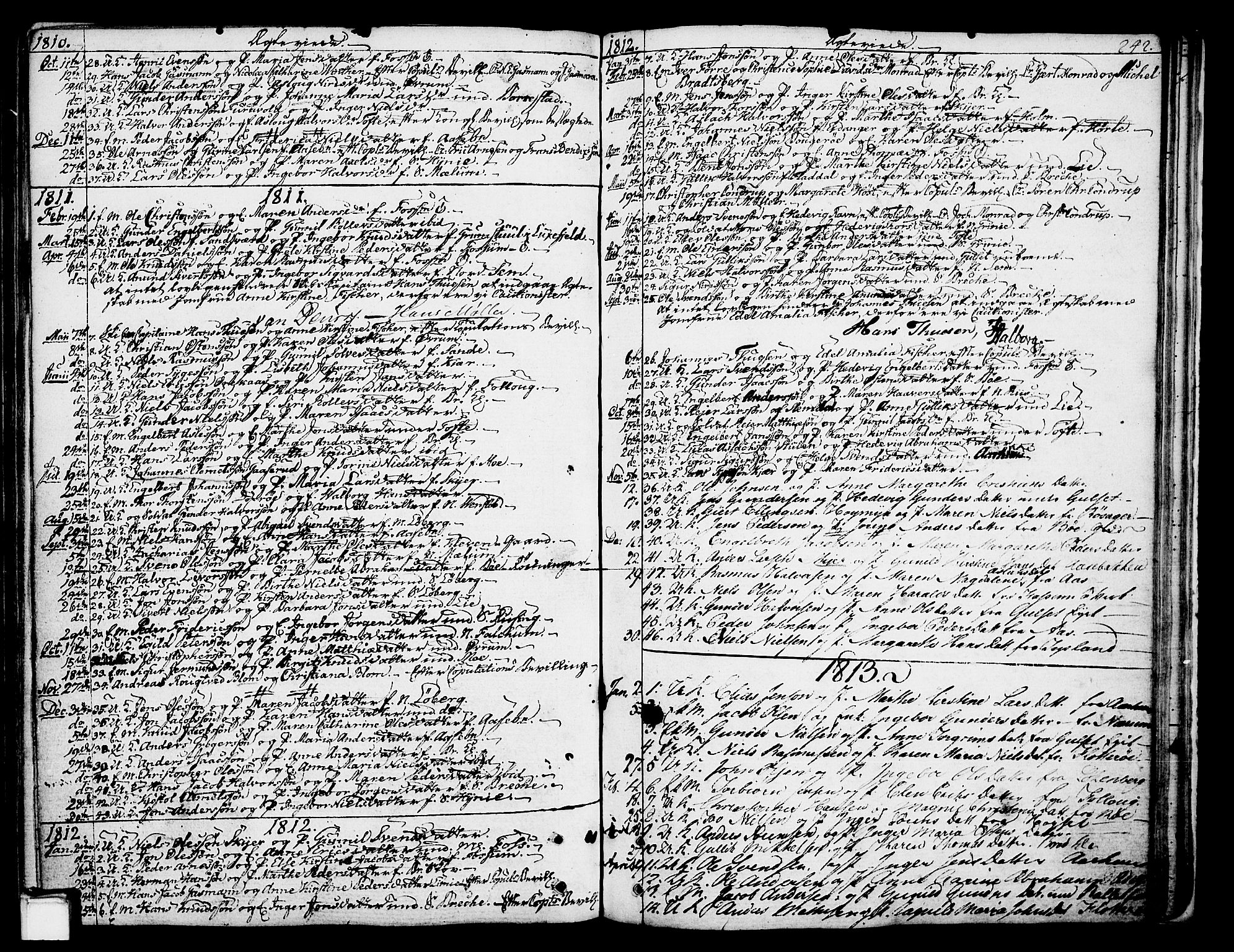 SAKO, Gjerpen kirkebøker, F/Fa/L0003: Ministerialbok nr. 3, 1796-1814, s. 242