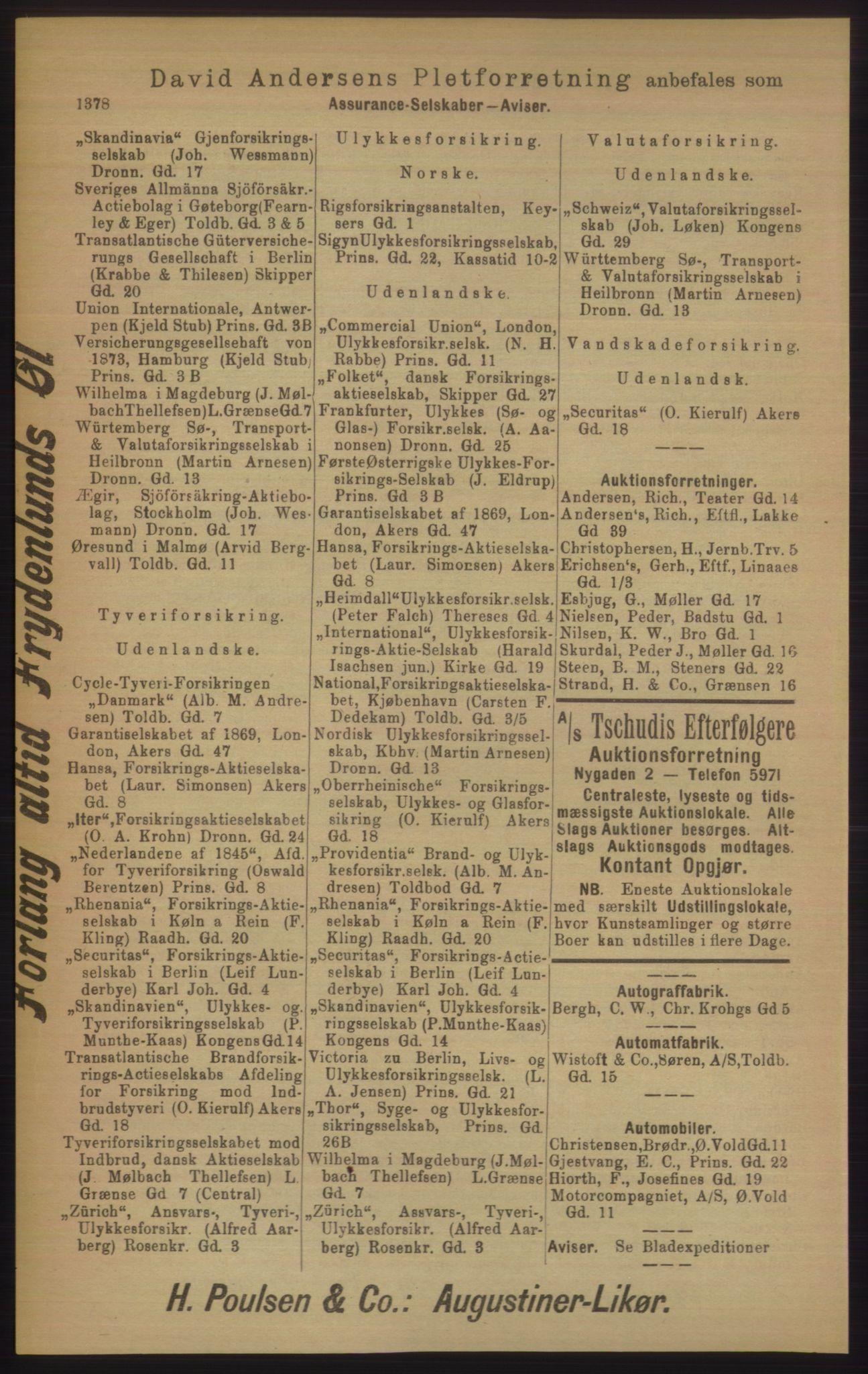 PUBL, Kristiania/Oslo adressebok, 1906, s. 1378