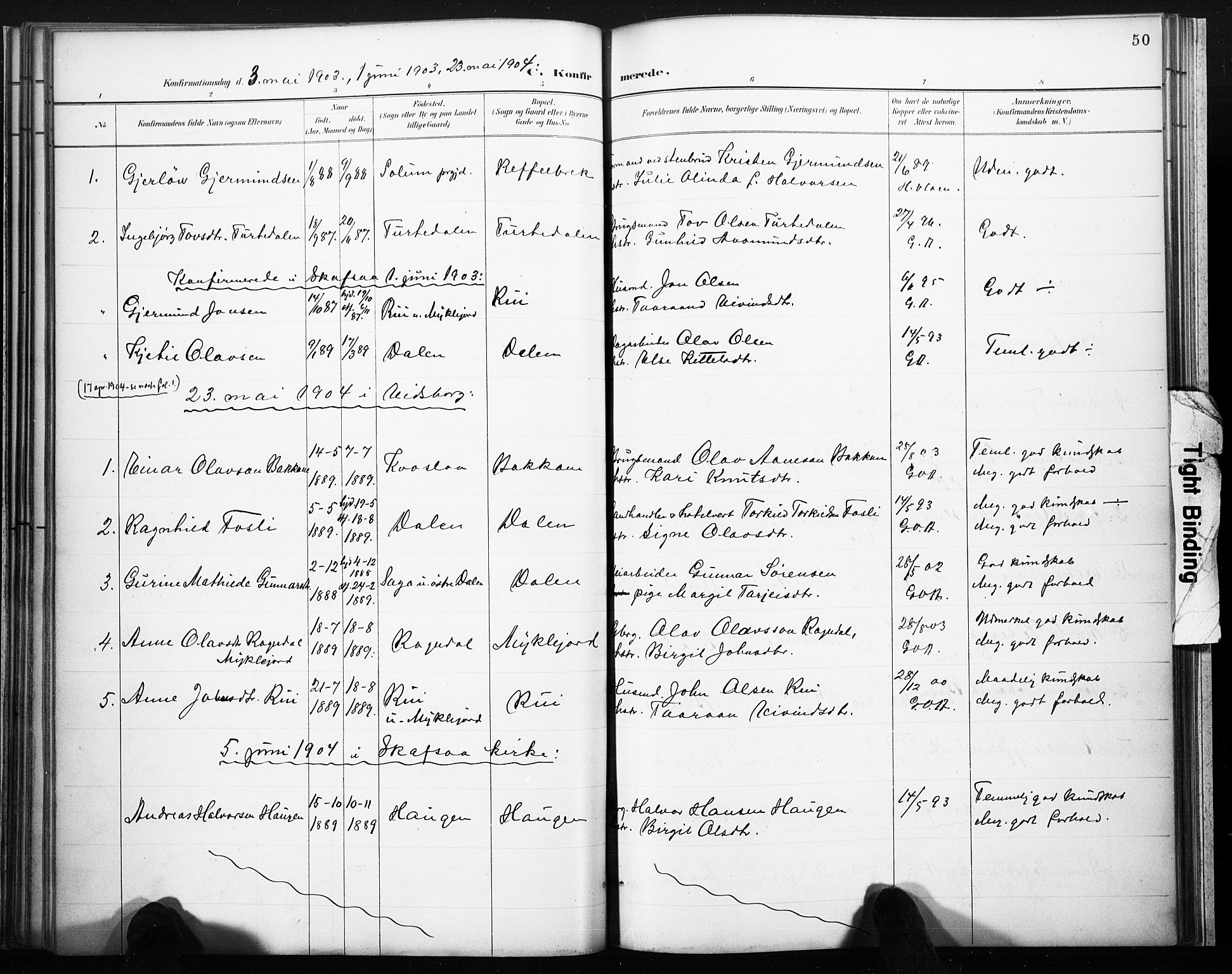 SAKO, Lårdal kirkebøker, F/Fb/L0002: Ministerialbok nr. II 2, 1887-1918, s. 50