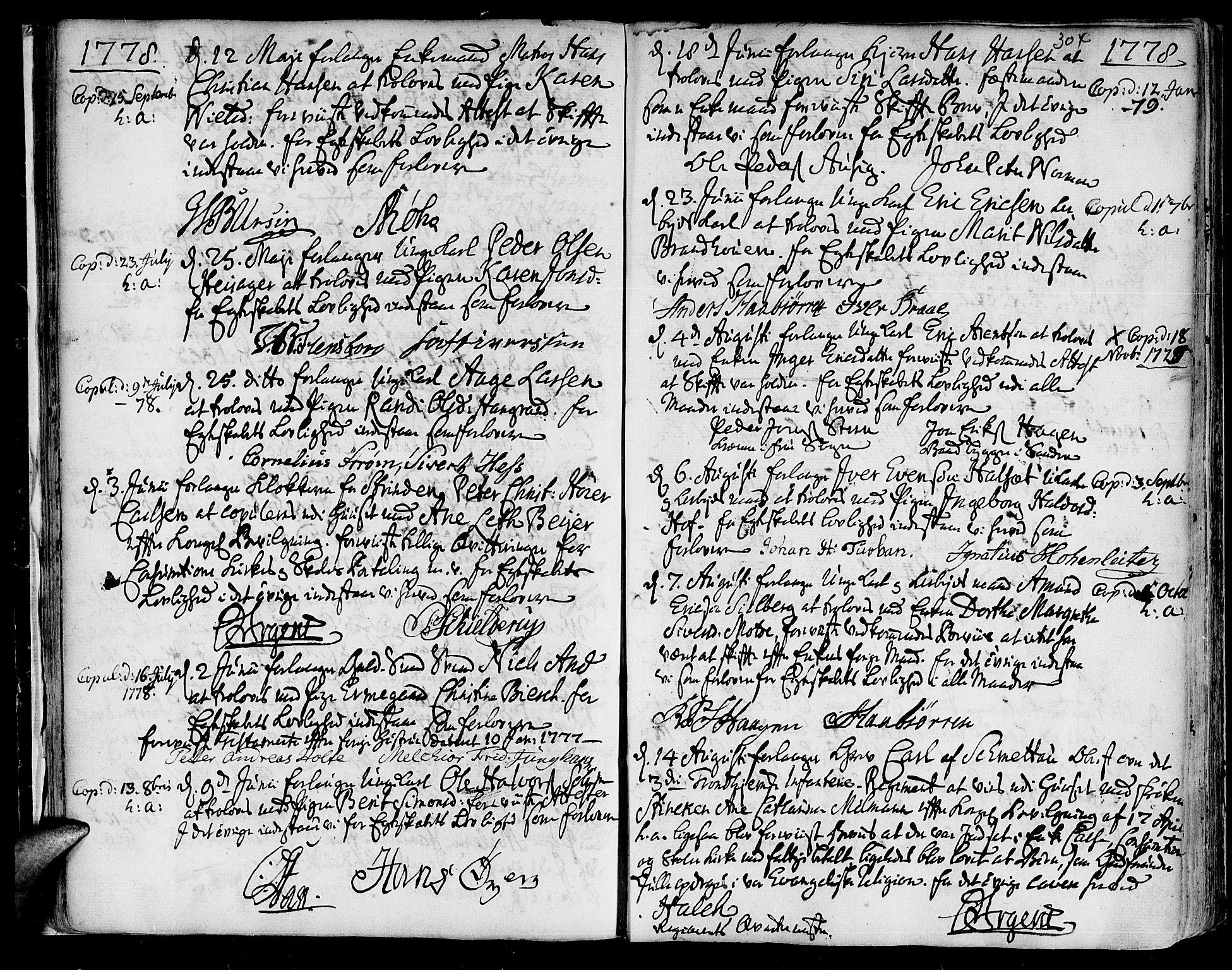SAT, Ministerialprotokoller, klokkerbøker og fødselsregistre - Sør-Trøndelag, 601/L0038: Ministerialbok nr. 601A06, 1766-1877, s. 304