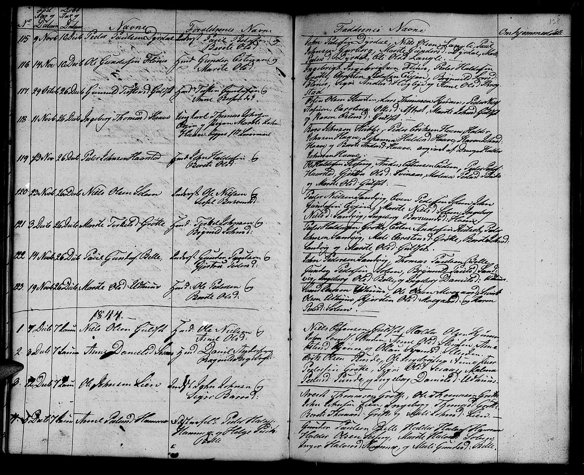 SAT, Ministerialprotokoller, klokkerbøker og fødselsregistre - Sør-Trøndelag, 695/L1154: Klokkerbok nr. 695C05, 1842-1858, s. 128b