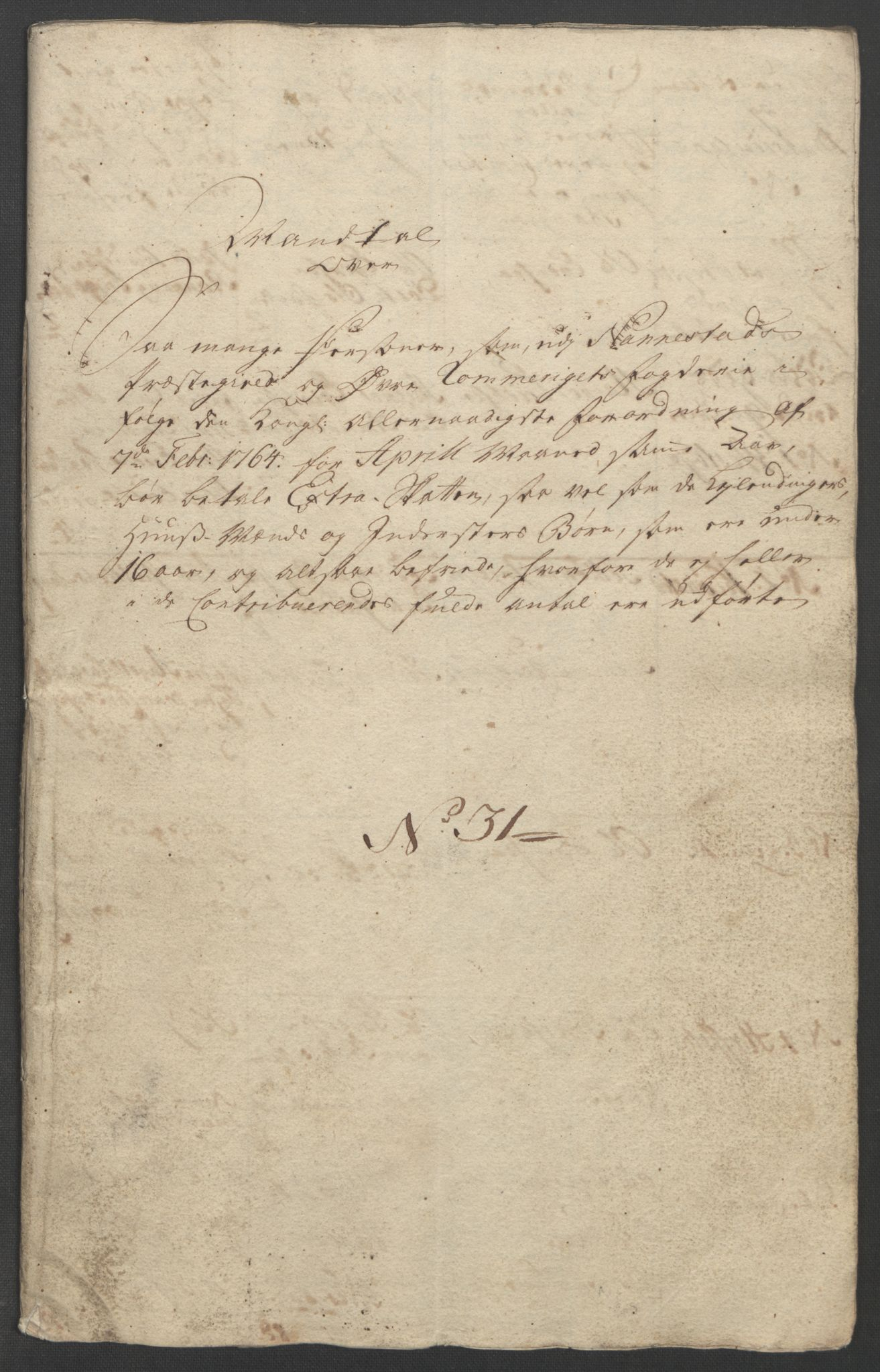RA, Rentekammeret inntil 1814, Reviderte regnskaper, Fogderegnskap, R12/L0804: Ekstraskatten Øvre Romerike, 1764, s. 11