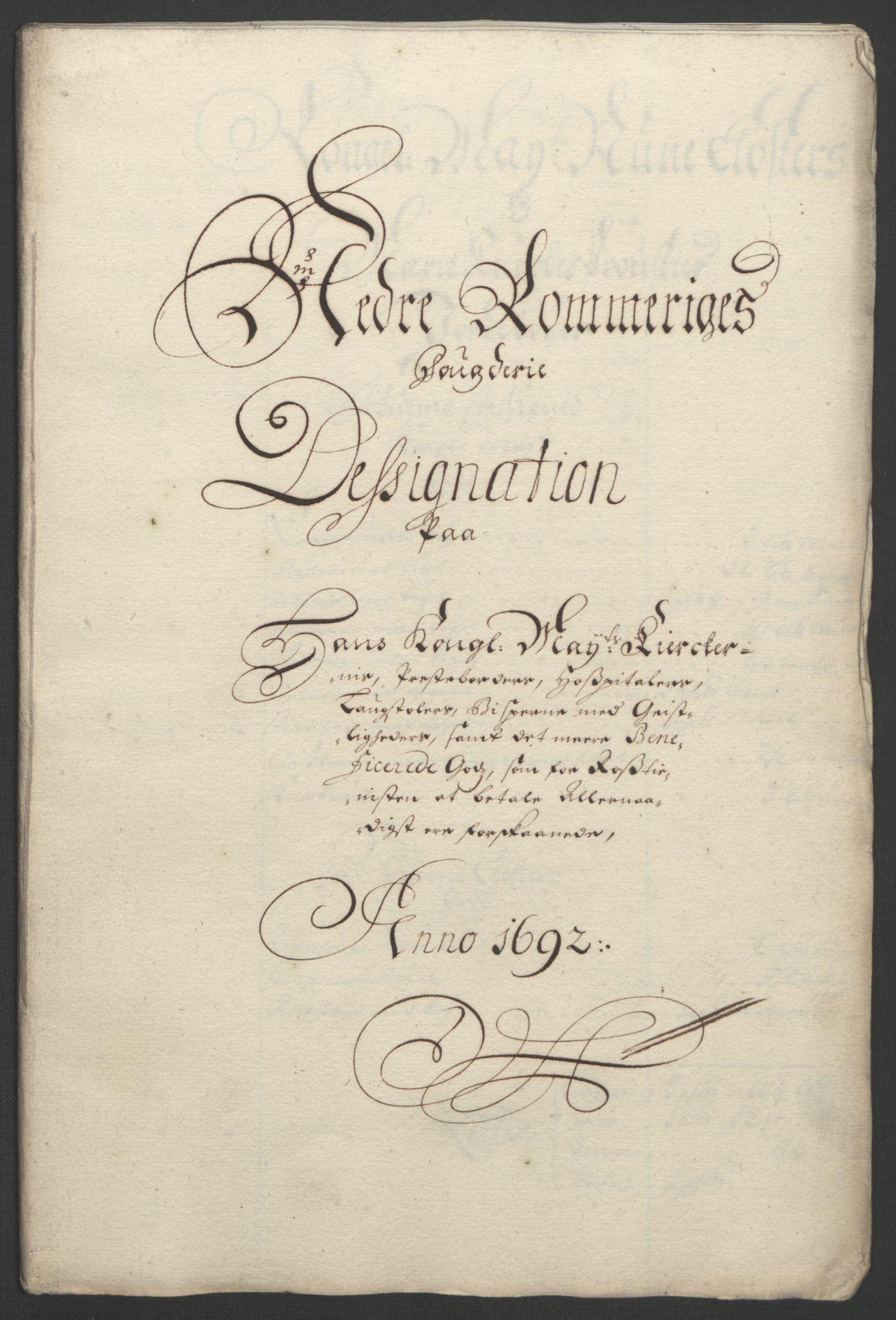 RA, Rentekammeret inntil 1814, Reviderte regnskaper, Fogderegnskap, R11/L0577: Fogderegnskap Nedre Romerike, 1692, s. 247