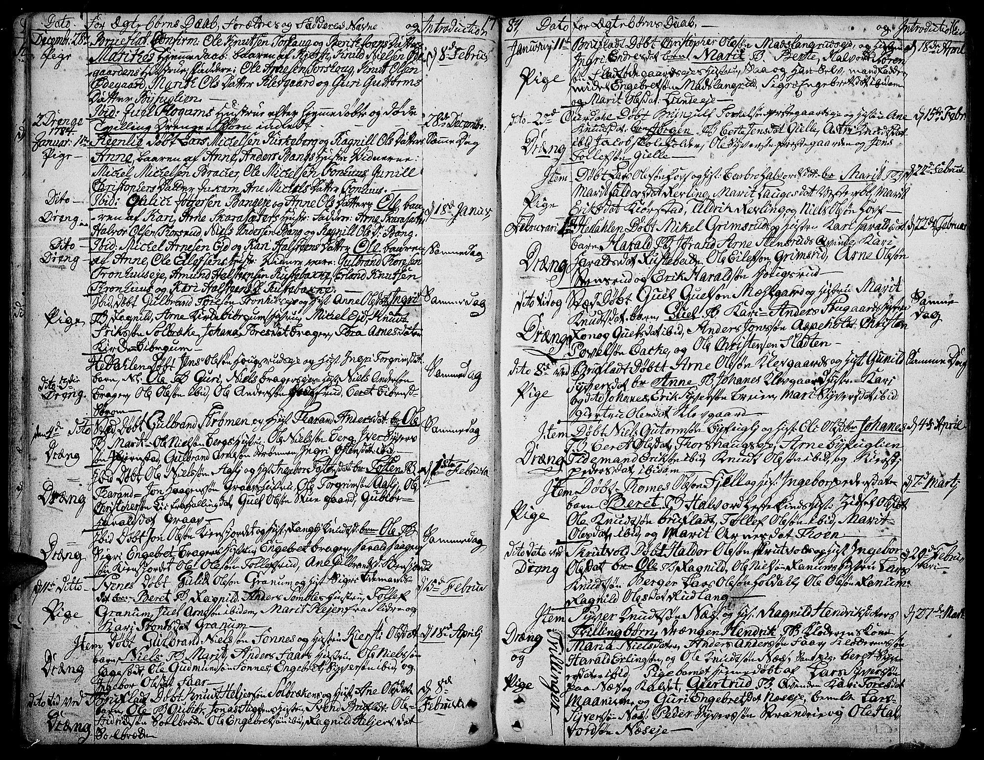 SAH, Aurdal prestekontor, Ministerialbok nr. 6, 1781-1804, s. 16