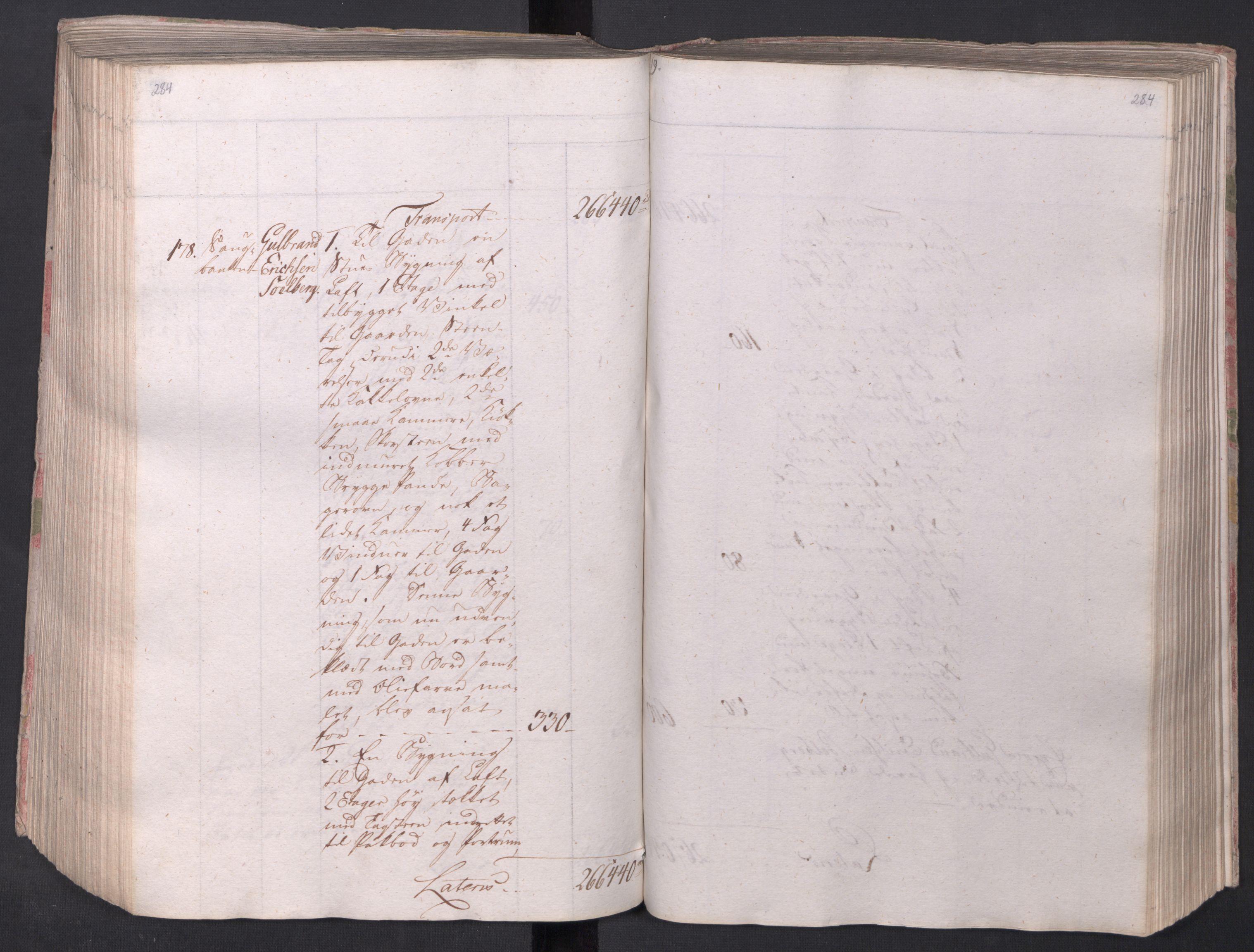 SAO, Kristiania stiftamt, I/Ia/L0015: Branntakster, 1797, s. 284