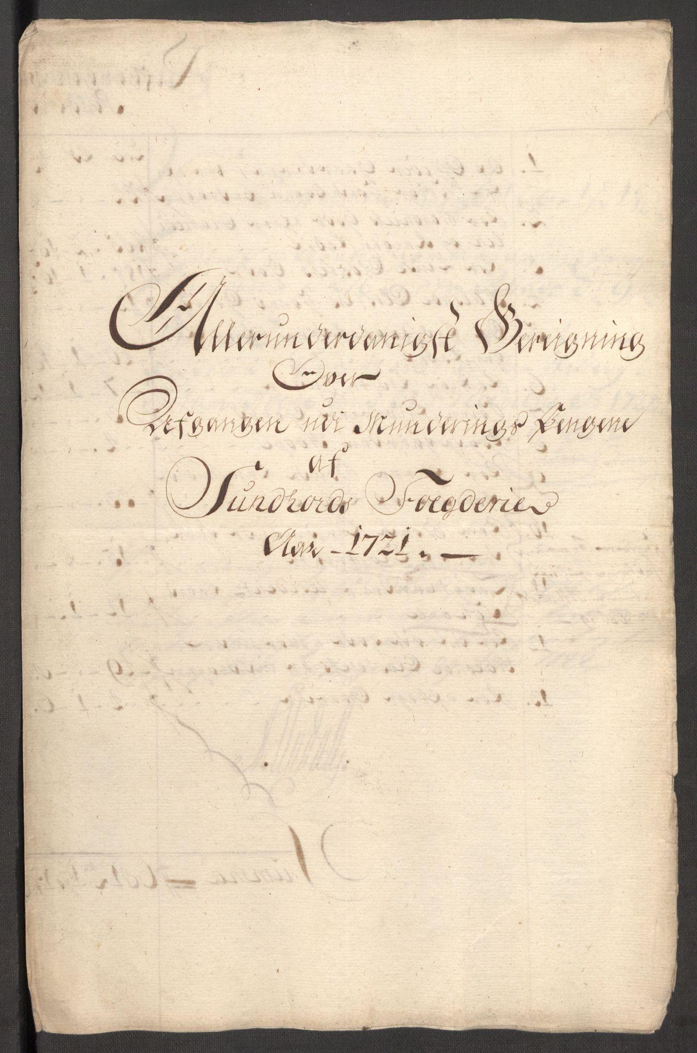 RA, Rentekammeret inntil 1814, Reviderte regnskaper, Fogderegnskap, R48/L3000: Fogderegnskap Sunnhordland og Hardanger, 1721, s. 271