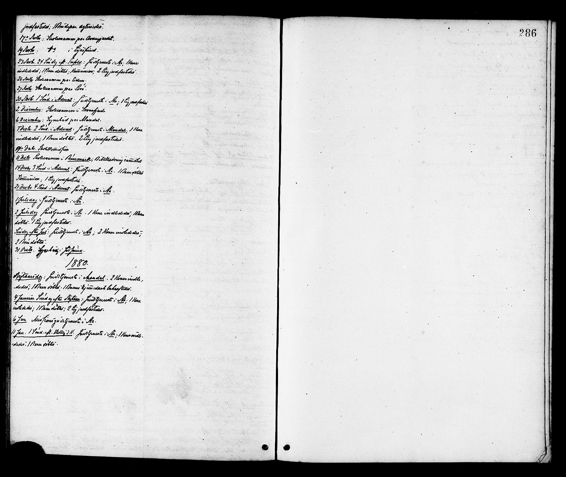 SAT, Ministerialprotokoller, klokkerbøker og fødselsregistre - Sør-Trøndelag, 655/L0679: Ministerialbok nr. 655A08, 1873-1879, s. 286