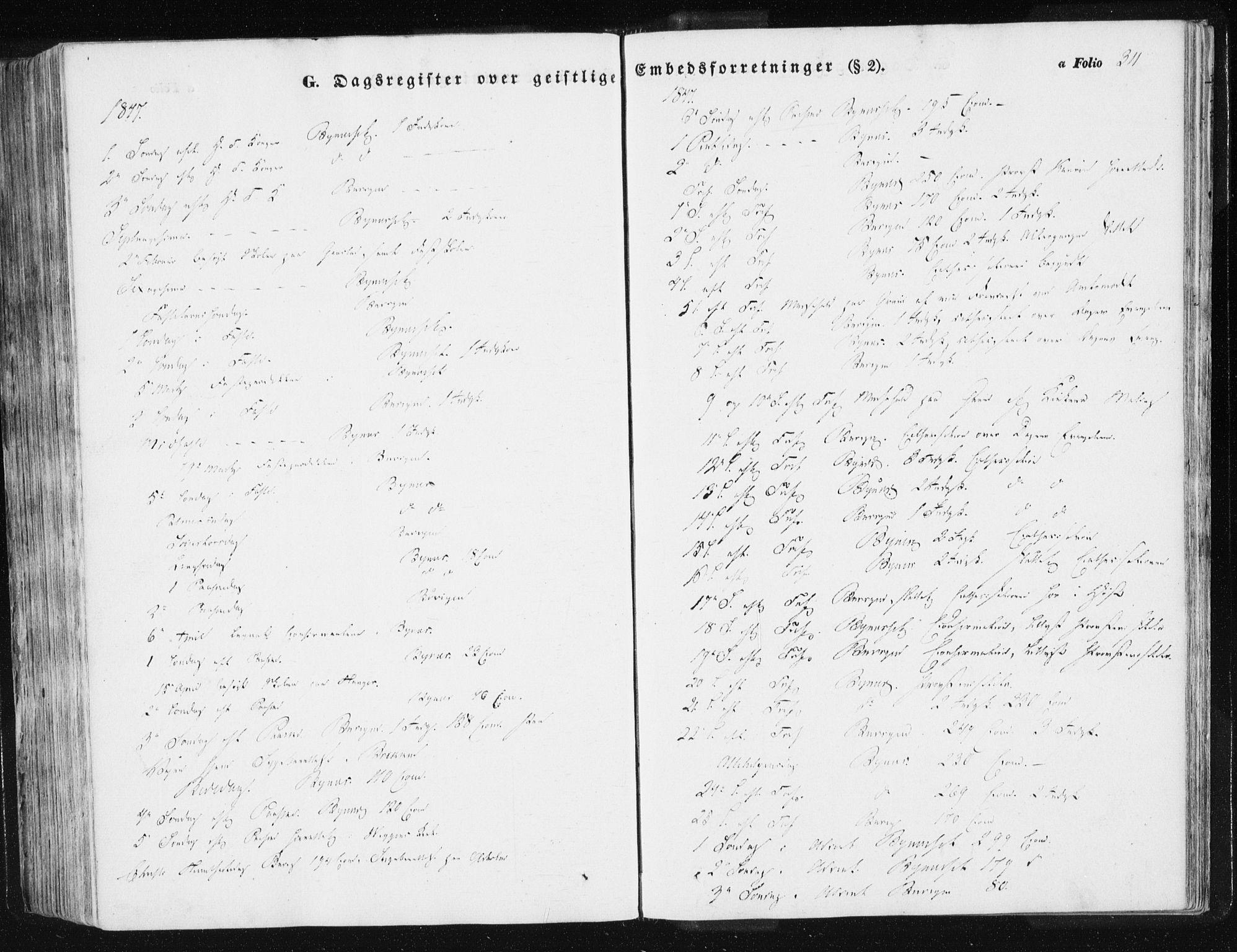 SAT, Ministerialprotokoller, klokkerbøker og fødselsregistre - Sør-Trøndelag, 612/L0376: Ministerialbok nr. 612A08, 1846-1859, s. 311