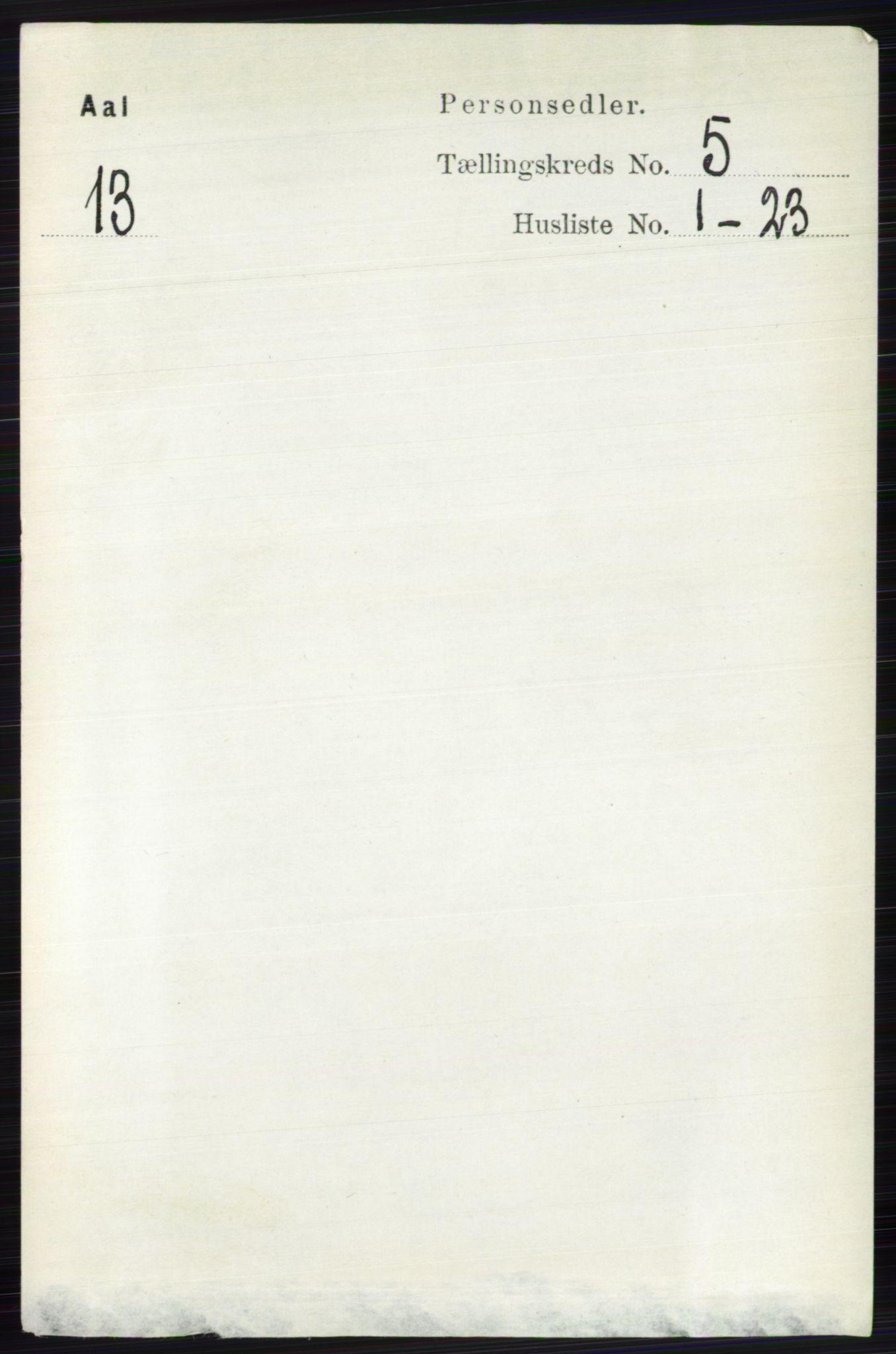 RA, Folketelling 1891 for 0619 Ål herred, 1891, s. 1360